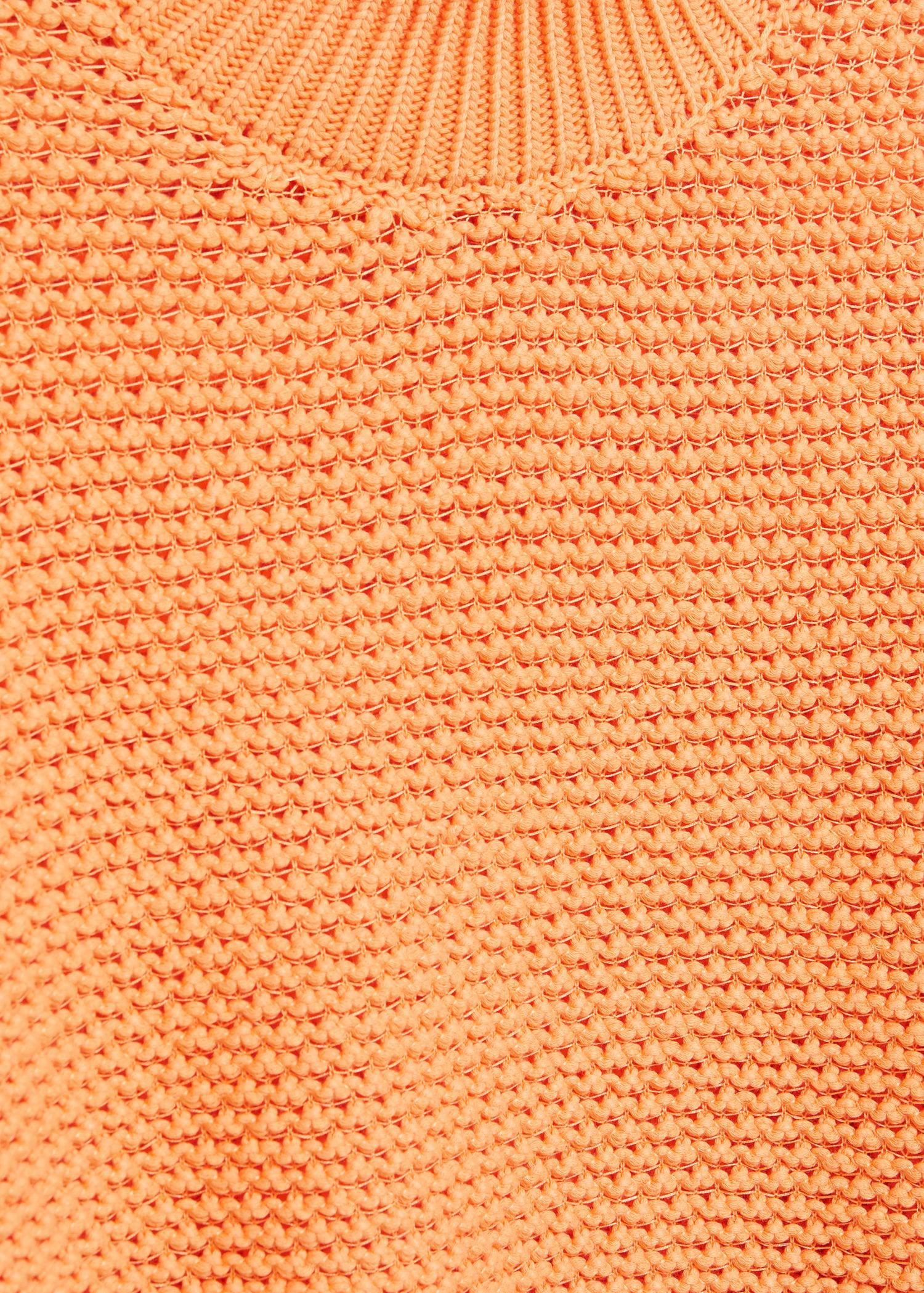 Embossed contrasting knit sweater 6