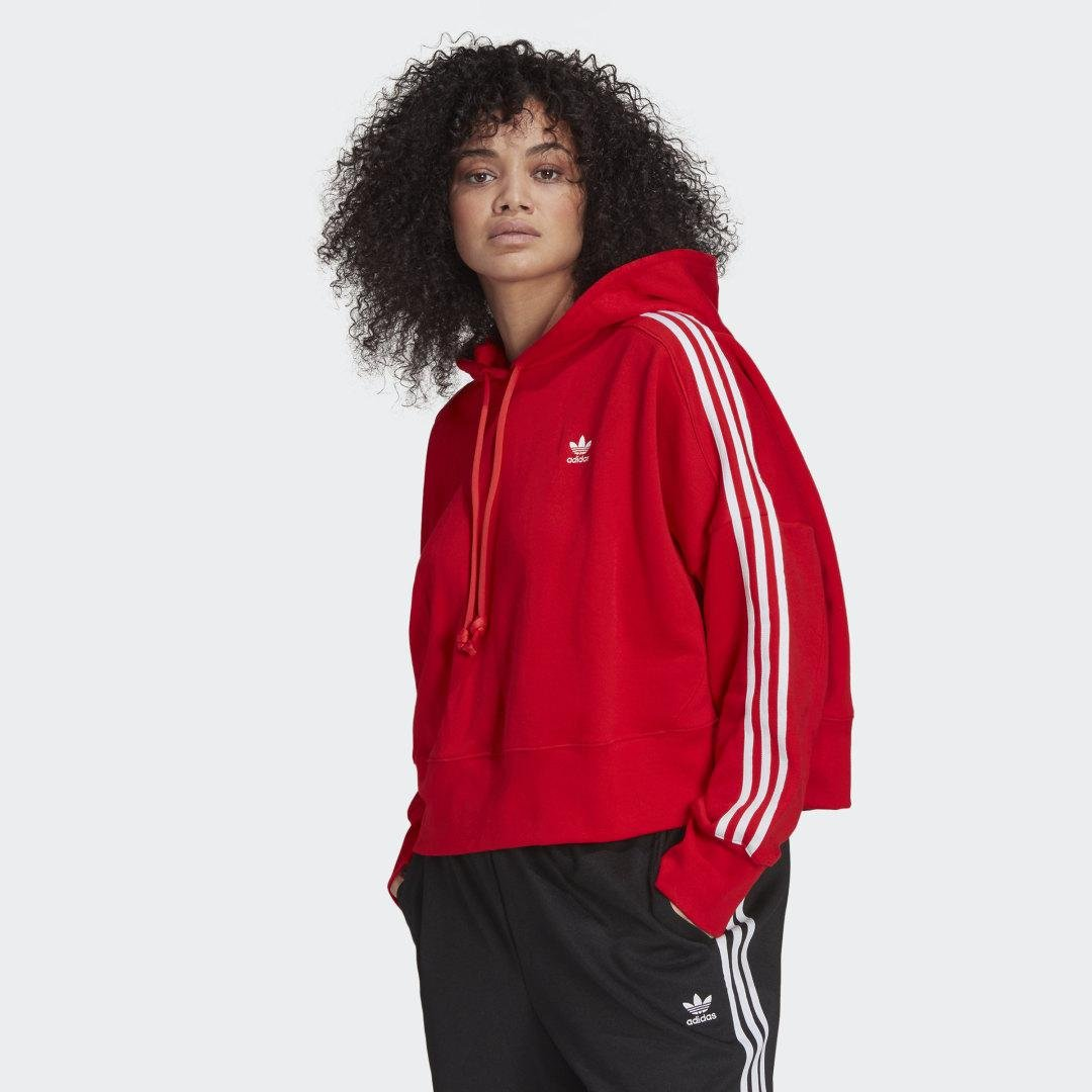 Adicolor Classics Cropped Hoodie (Plus Size) Red