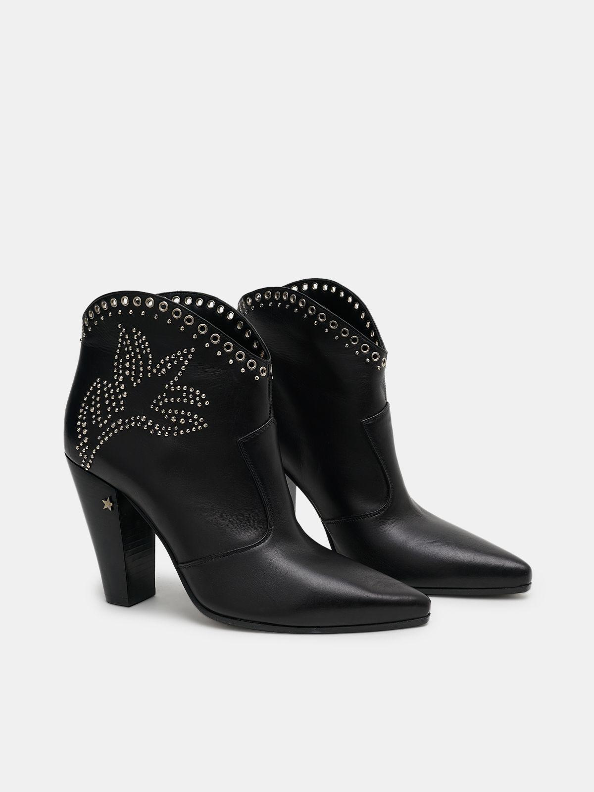 Michelle Low ankle boots with decorative studs 2