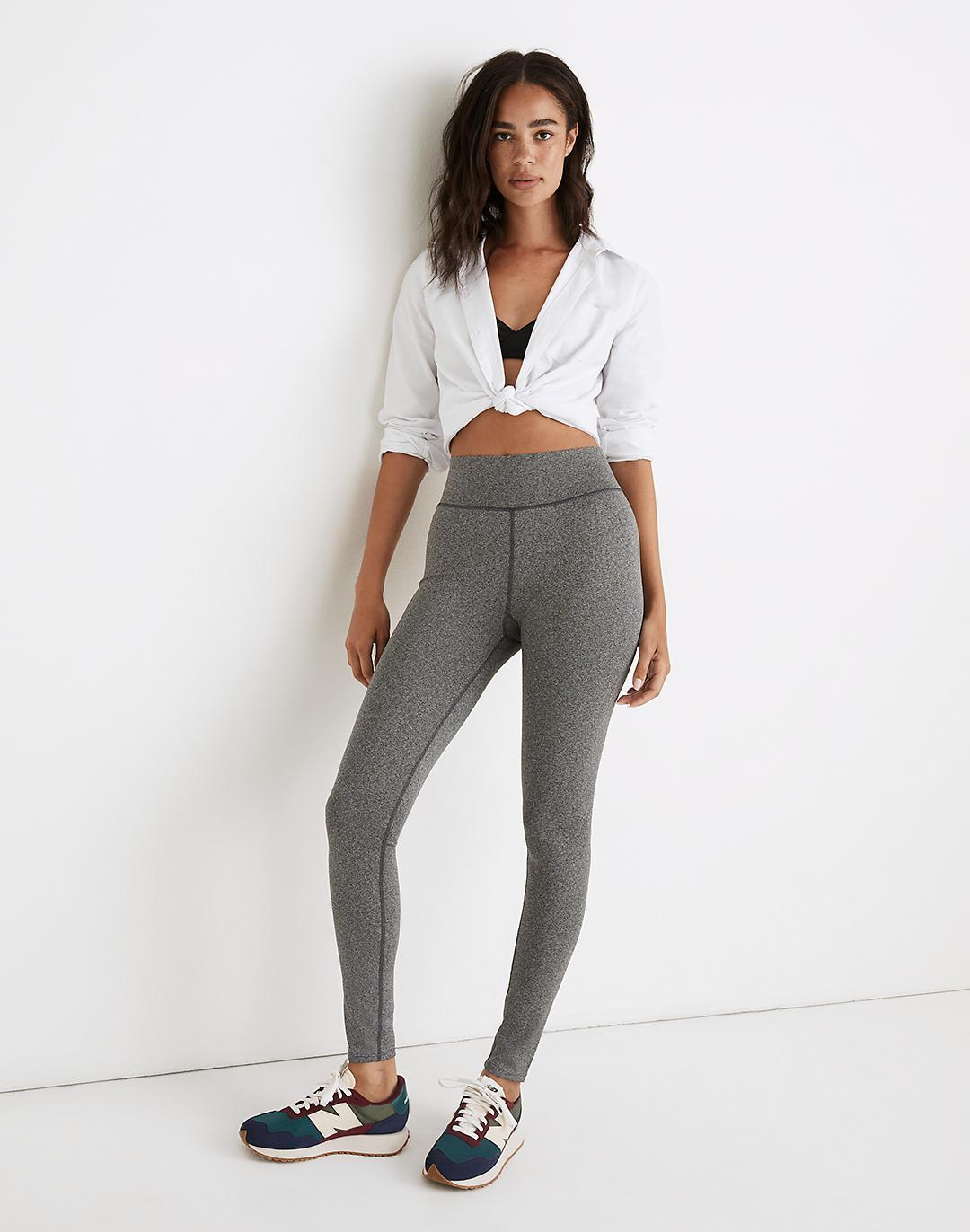 """Curvy MWL Form High-Rise 28"""" Leggings in Heathered Charcoal"""