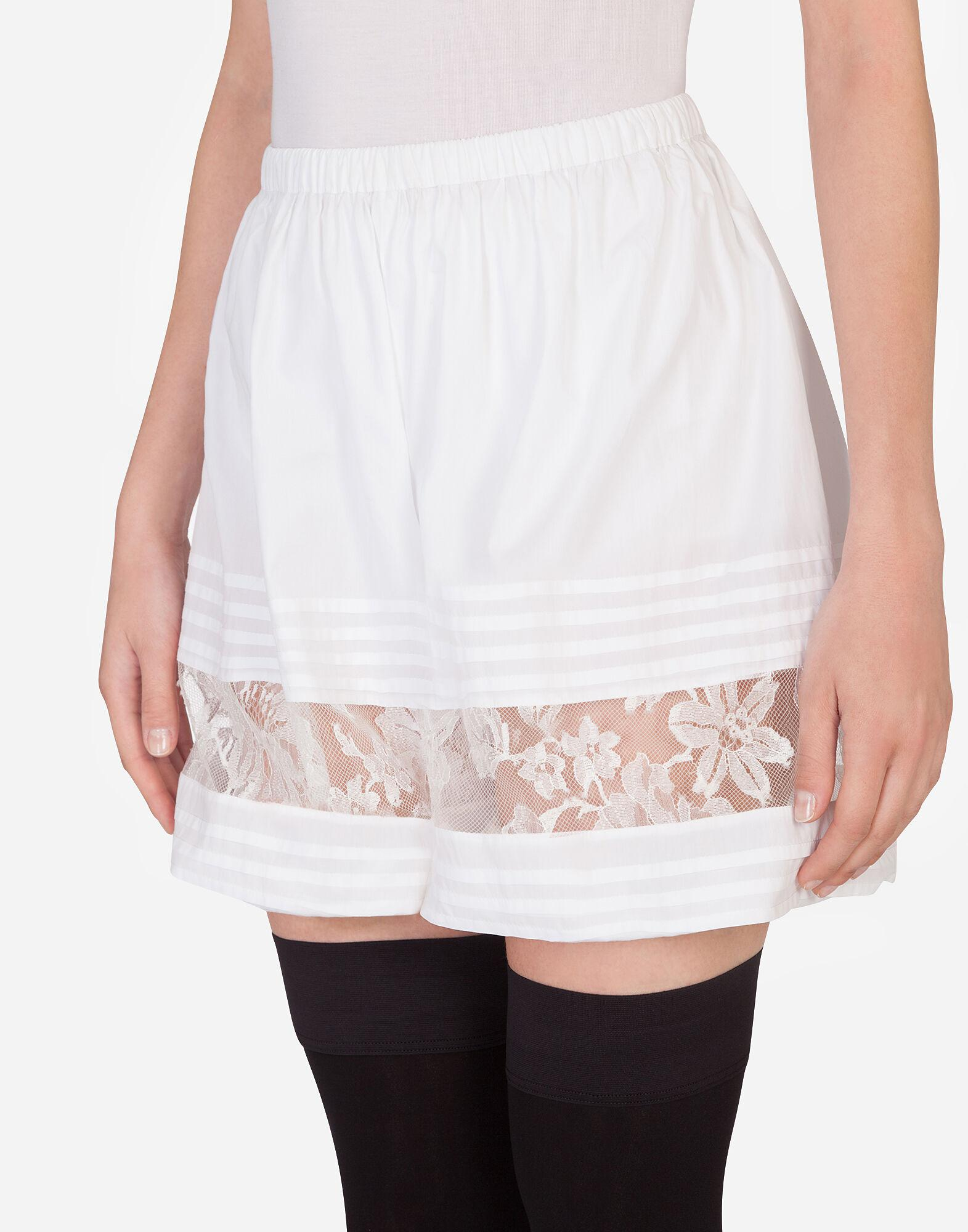 Silk shorts with lace details 2