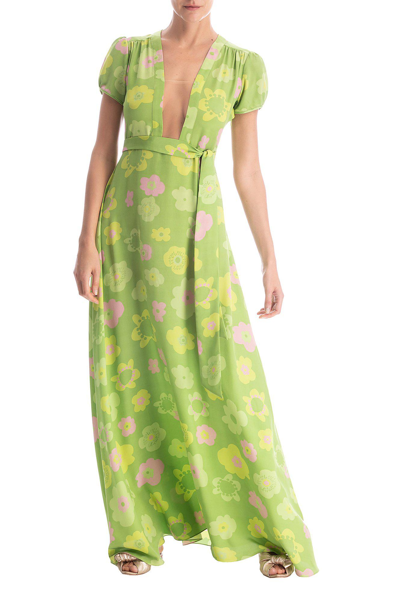 Vintage Flower Long Dress With Tulle Detail
