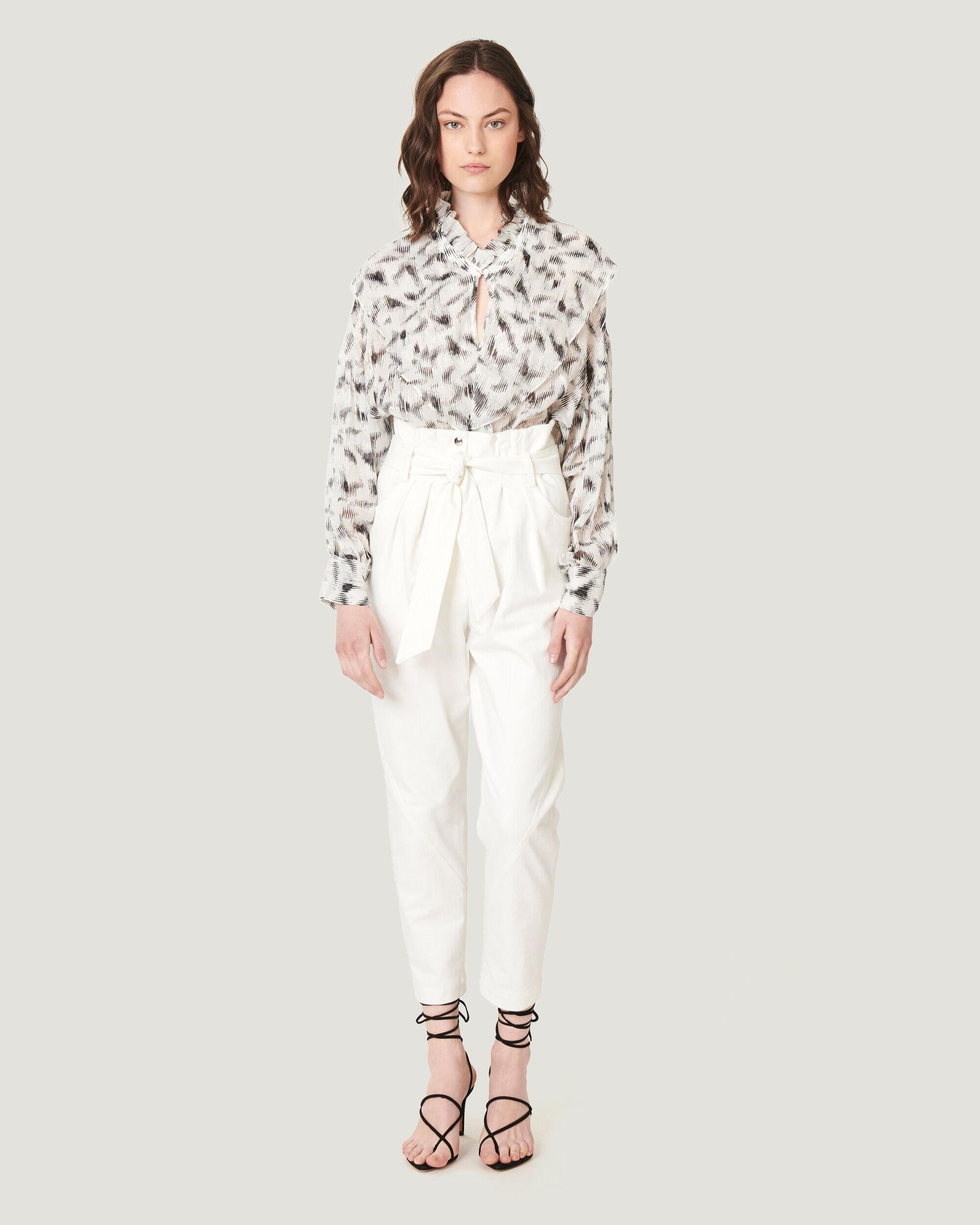 GARETTI CROPPED PAPERBAG TROUSERS