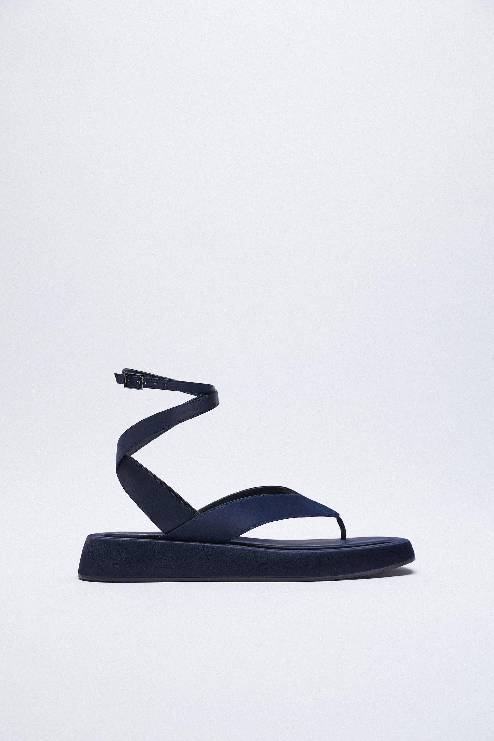 CHUNKY SATIN EFFECT SANDALS 3