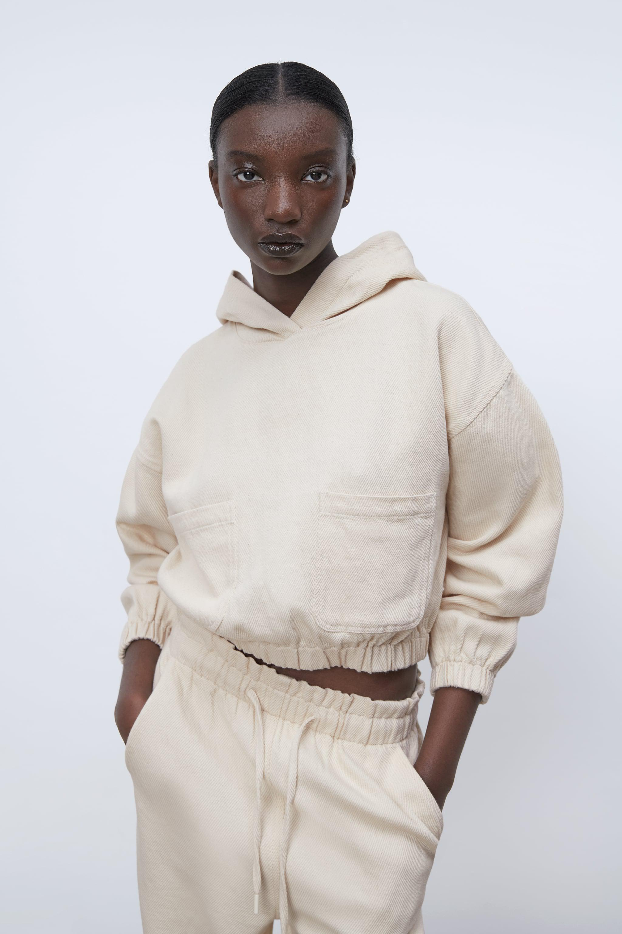 HOODED TWILL TOP 5