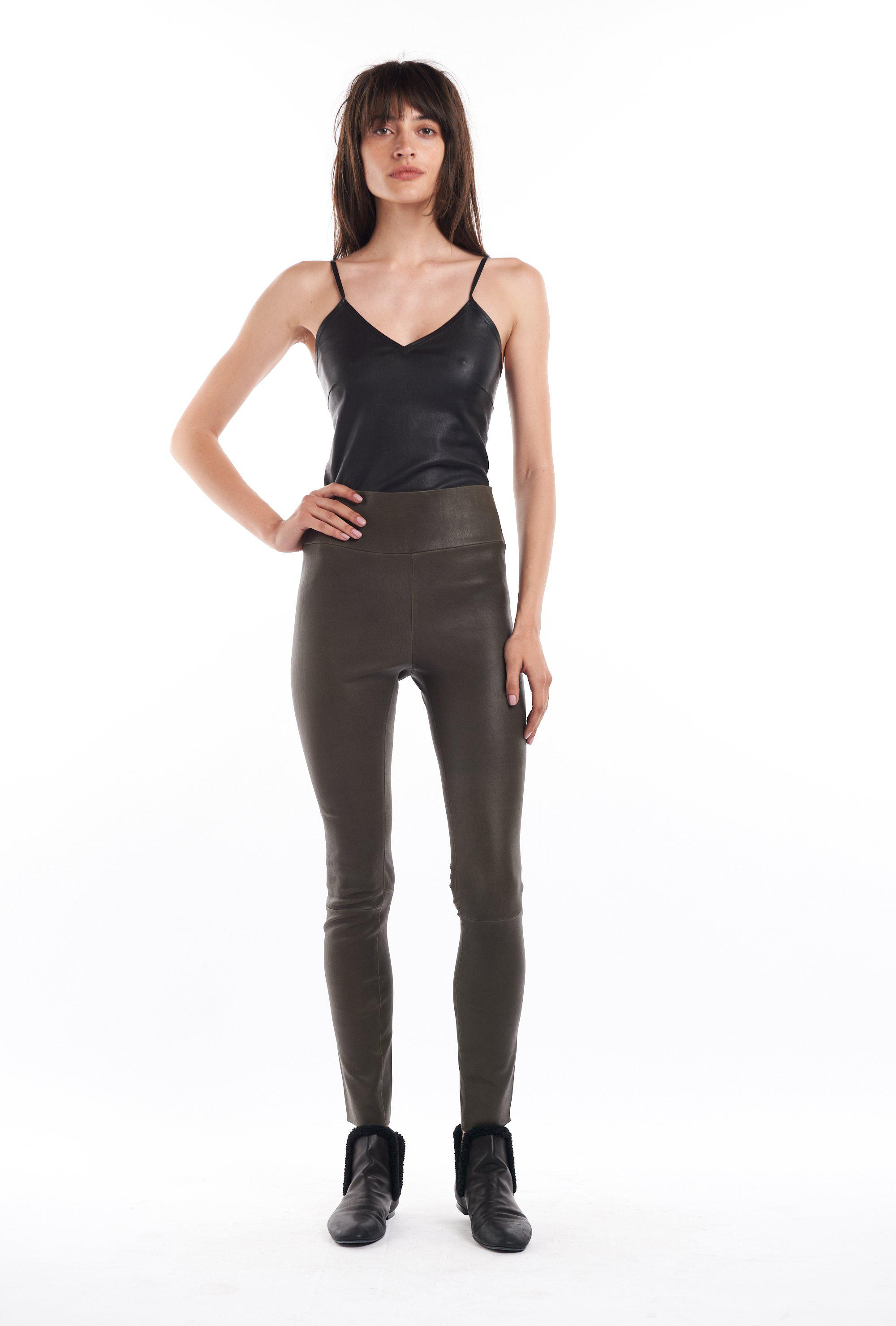 Army Leather Ankle Legging