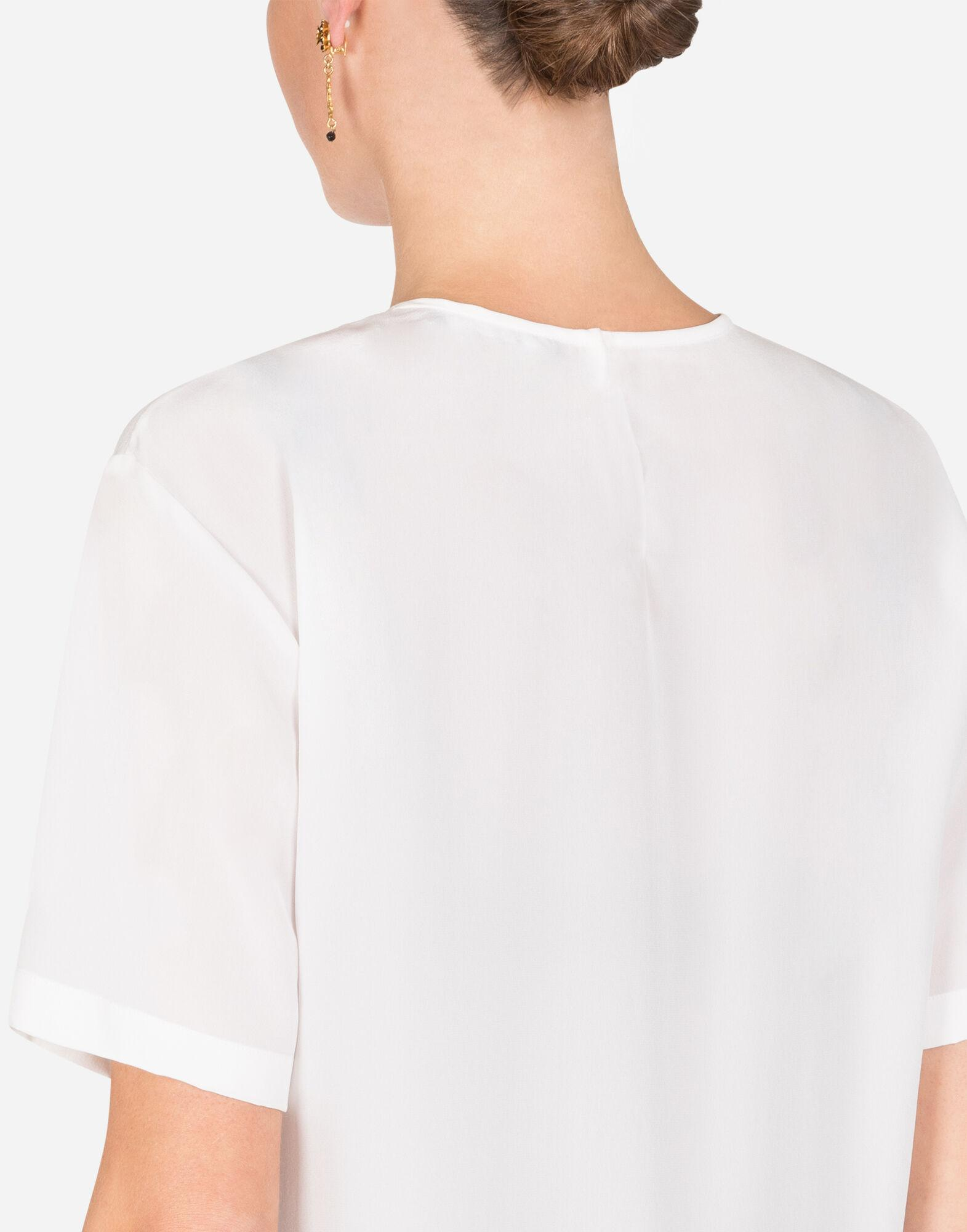 Crepe de chine top with embroidery 5