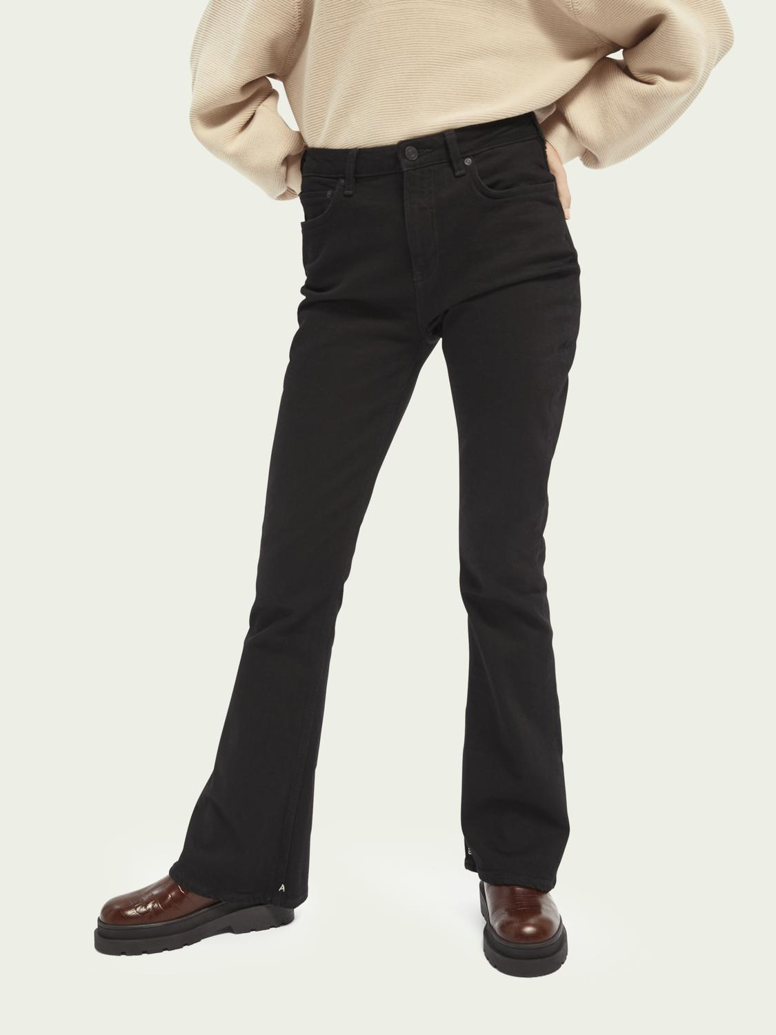 The Charm high-rise flared jeans ─ Black Shadow