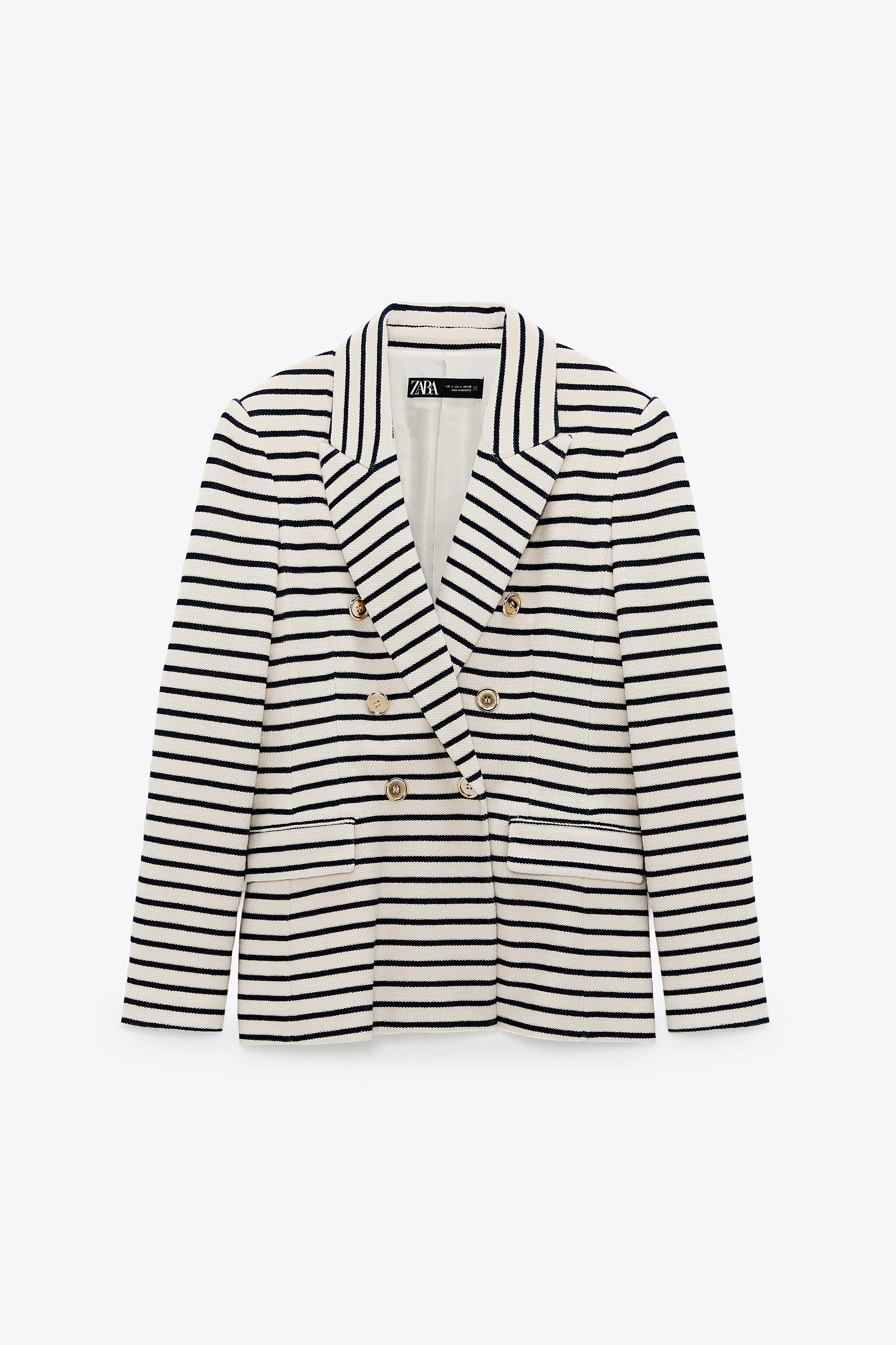 DOUBLE BREASTED STRIPED BLAZER 6