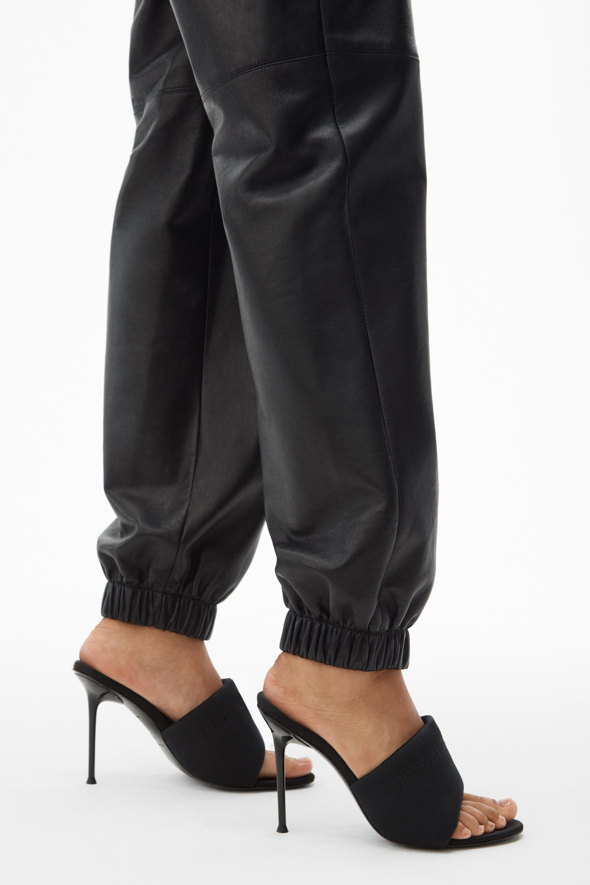 dipped leather jogger 4