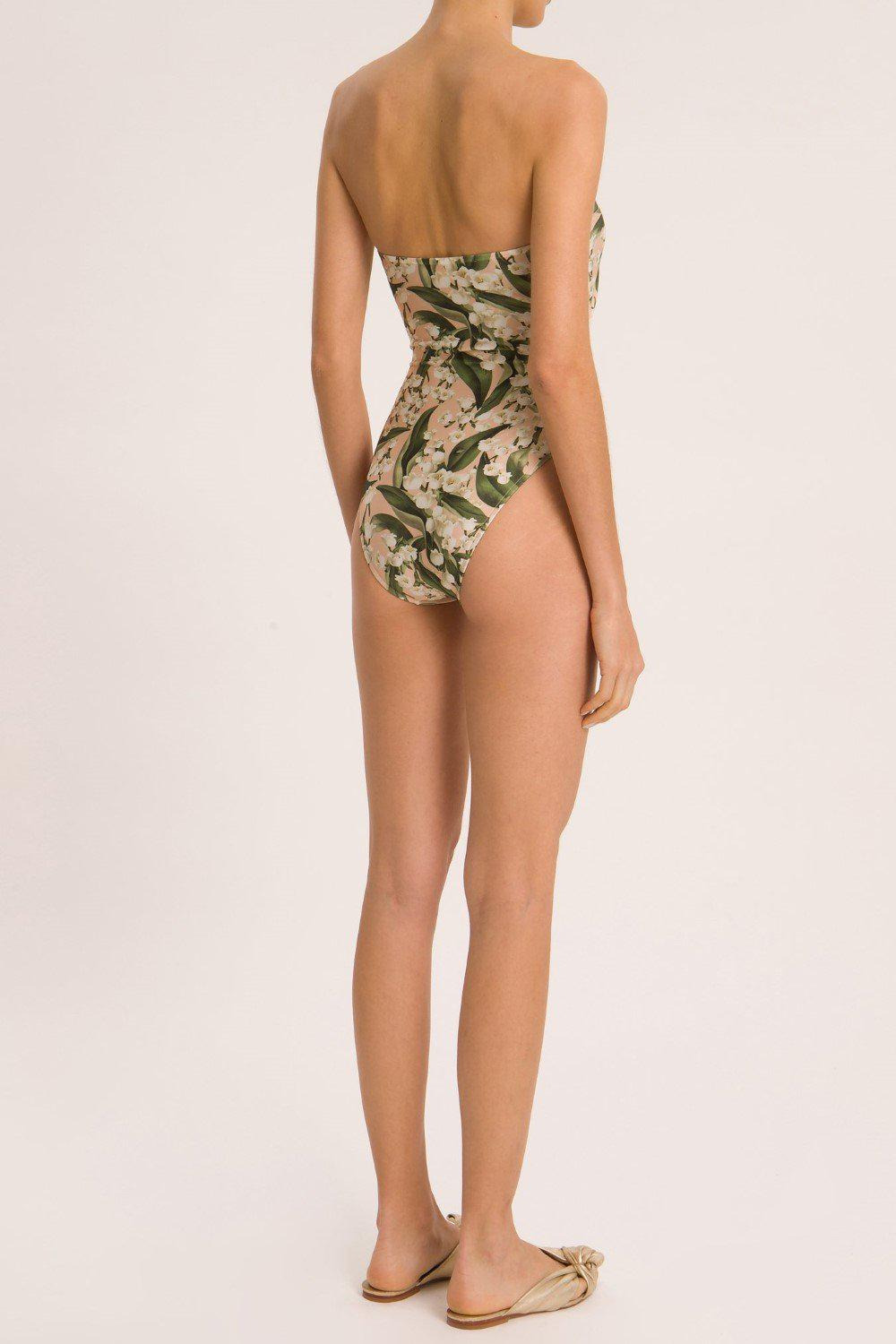 Muguet Strapless High-Leg Swimsuit With Double Knot 2
