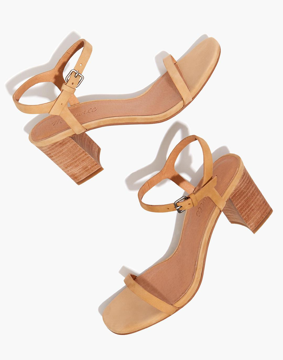 The Hollie Ankle-Strap Sandal in Nubuck Leather
