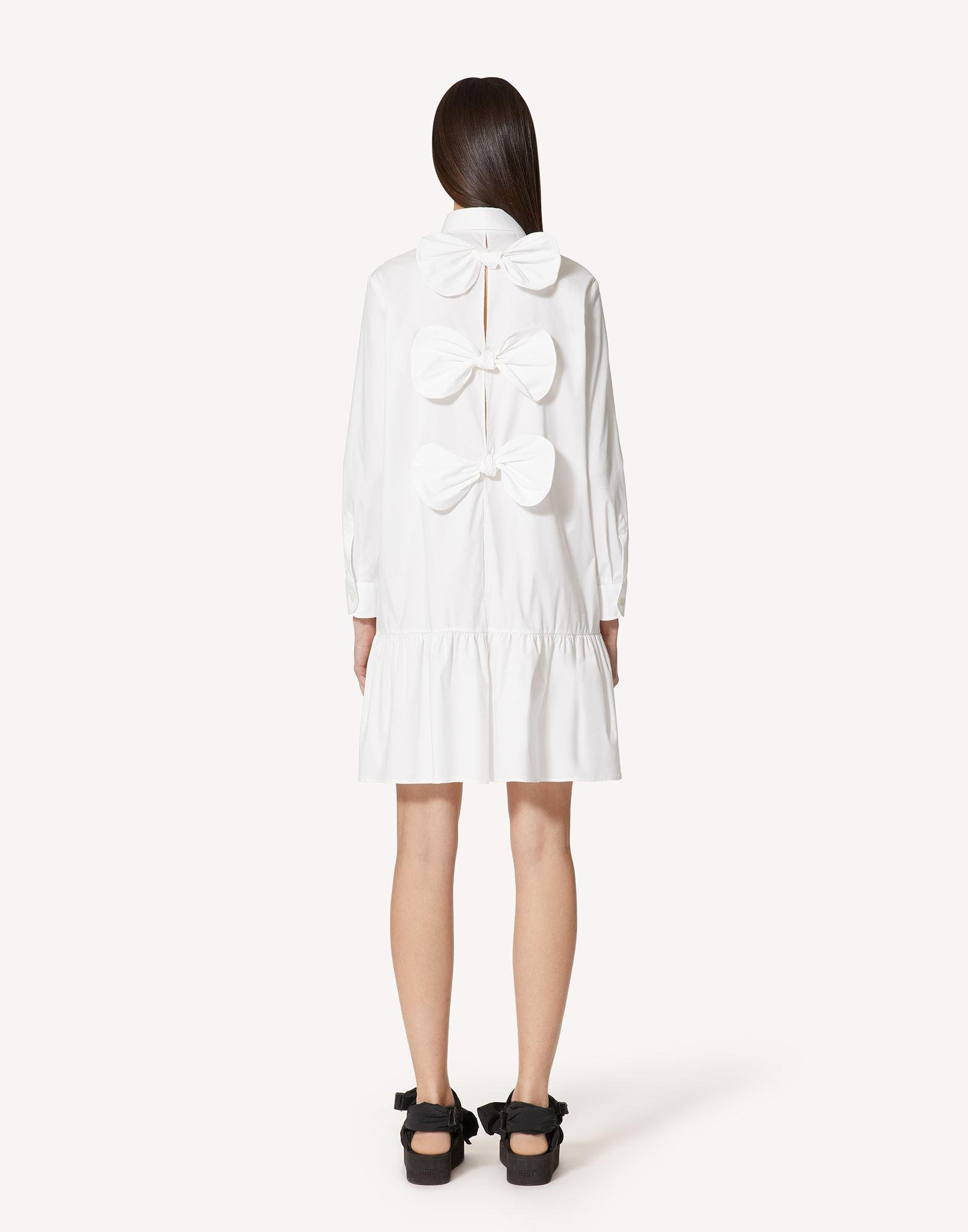 COTTON POPLIN DRESS WITH BOW DETAIL 1