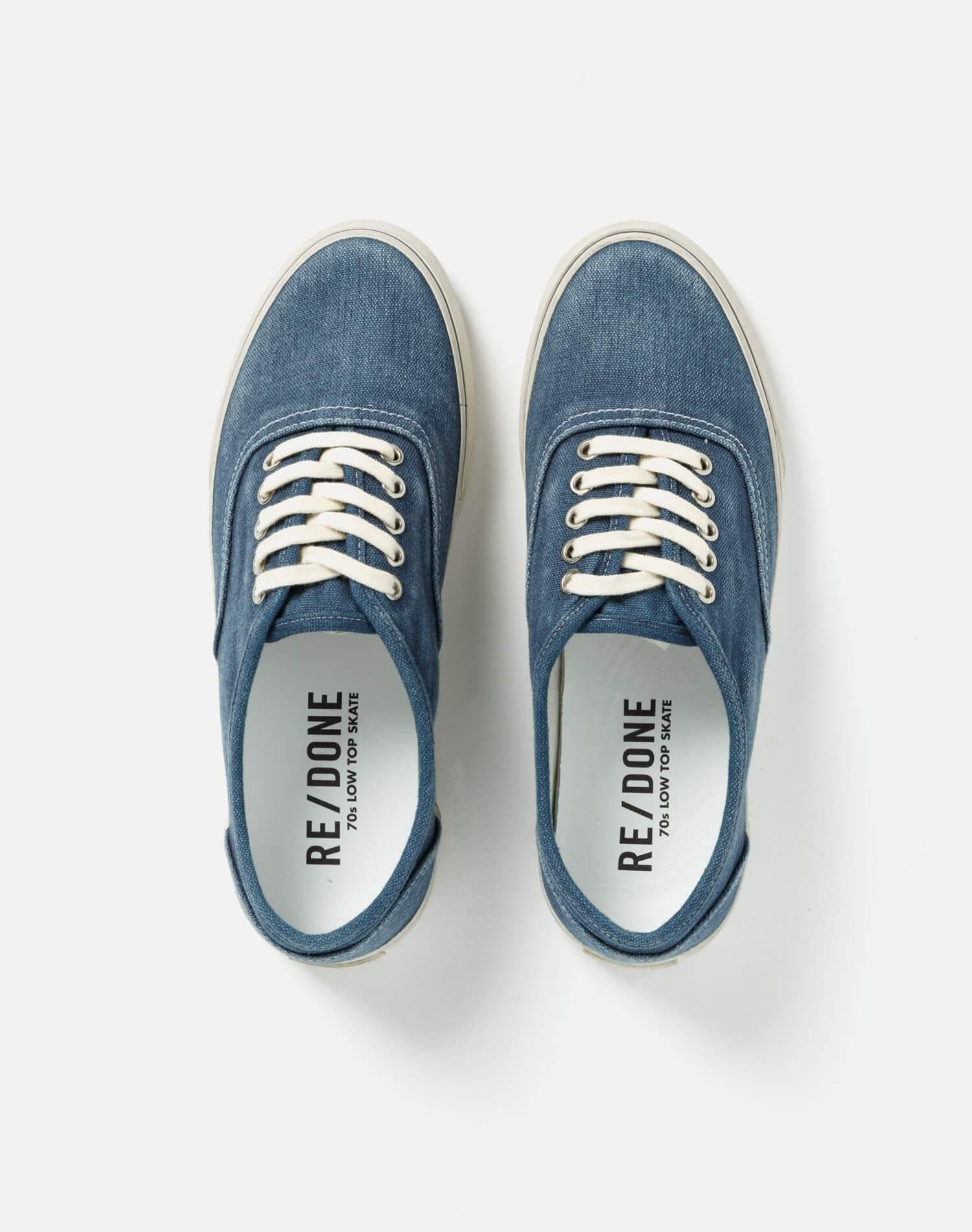 70s Low Top Skate - Faded Navy 2