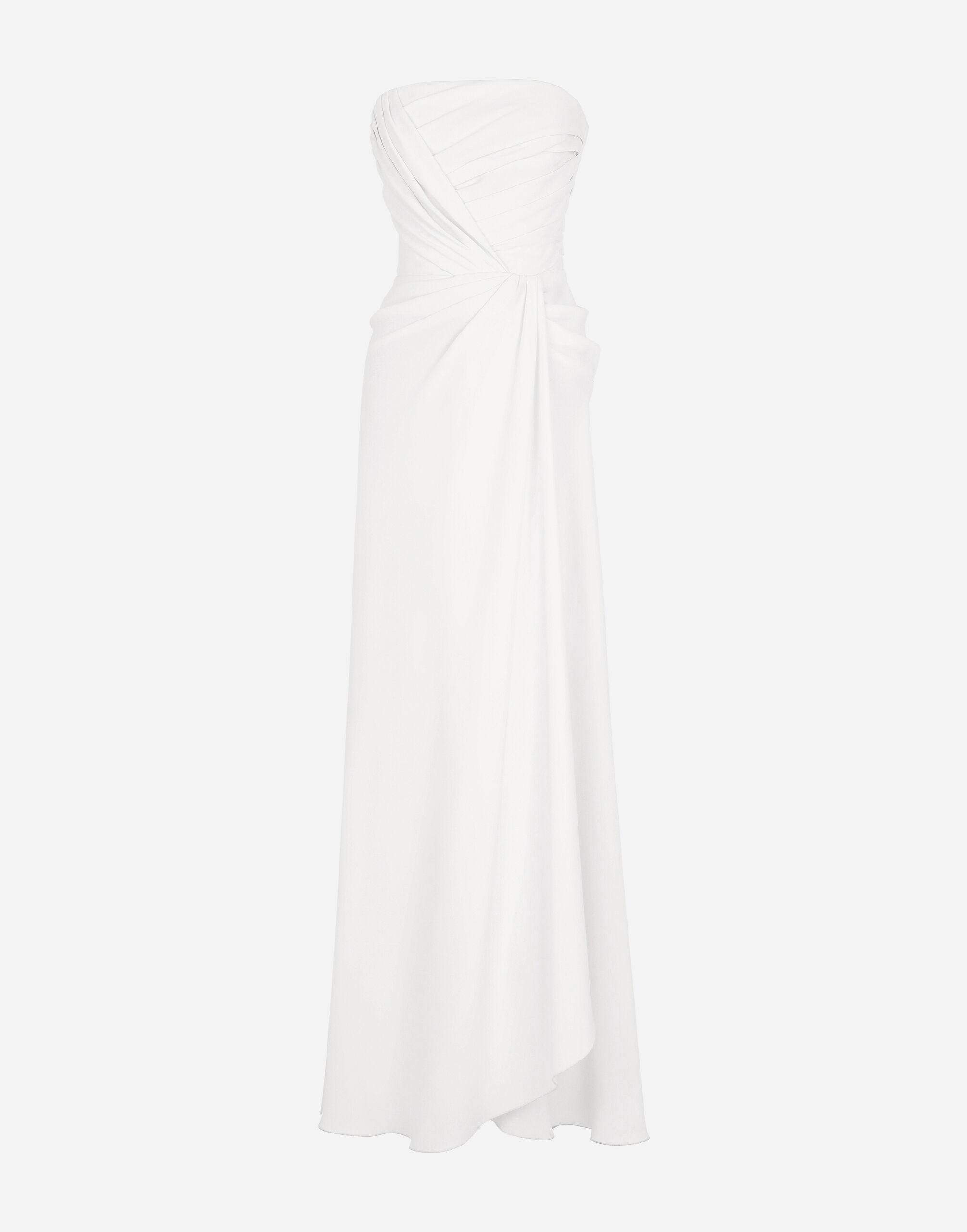 Long sable dress with side slit 5