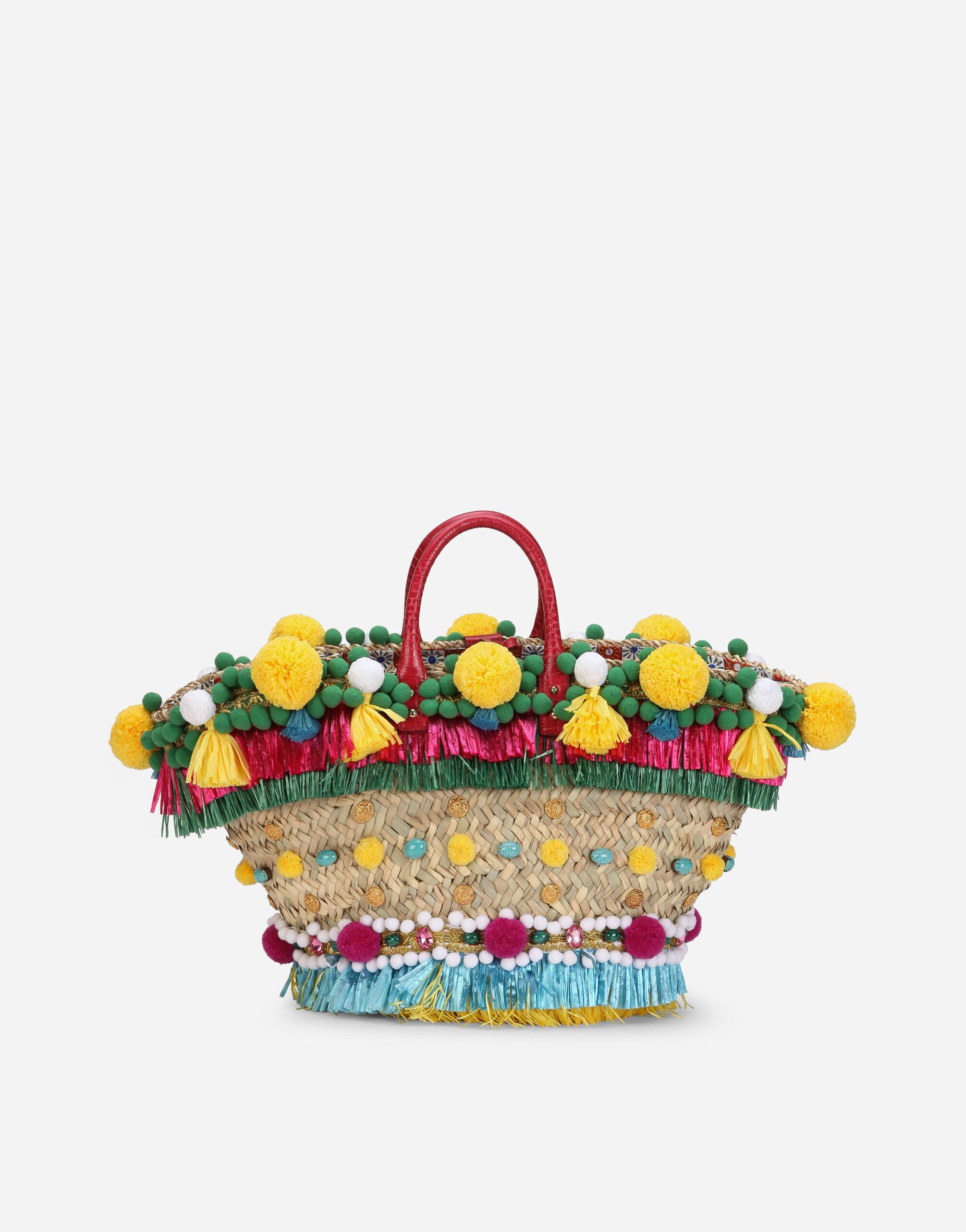 Straw Kendra coffa bag with embroidery 2