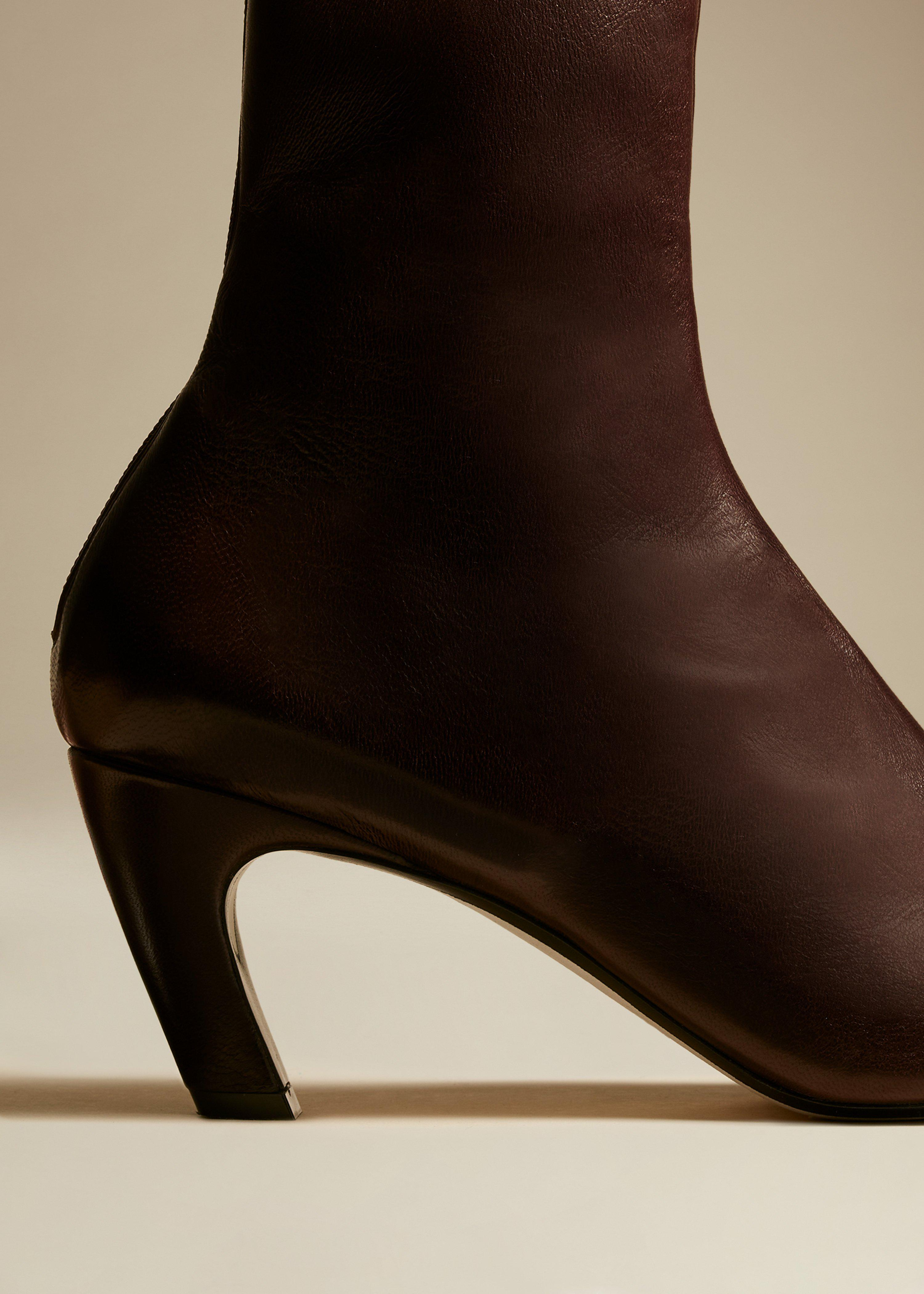 The Normandy Boot in Bordeaux Leather 2