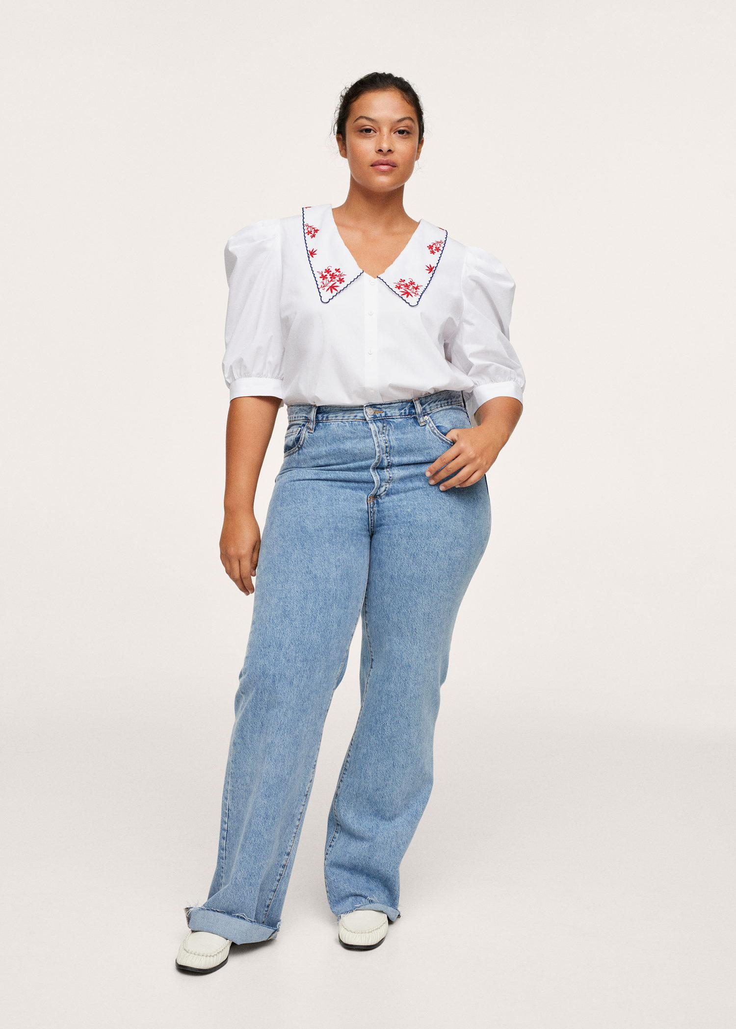 Embroidered cotton blouse