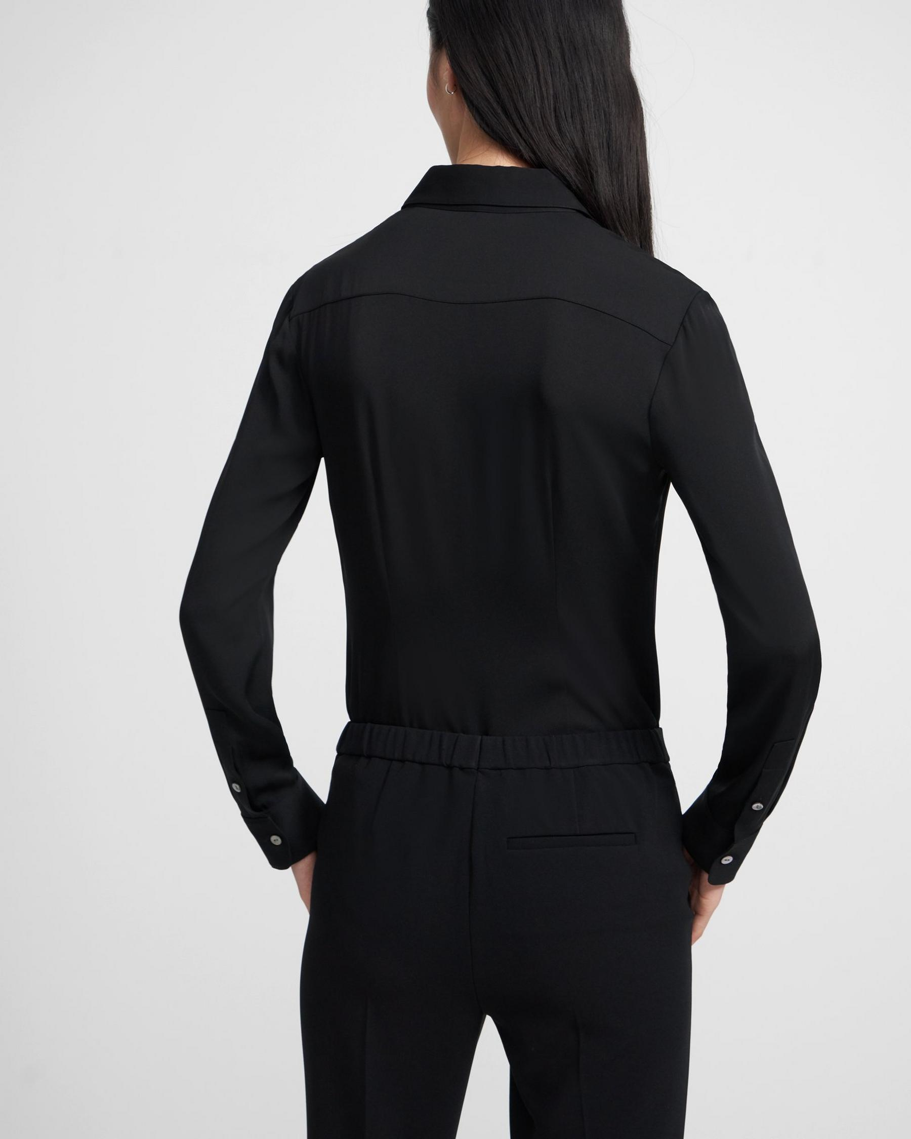 Fitted Shirt in Stretch Silk 1