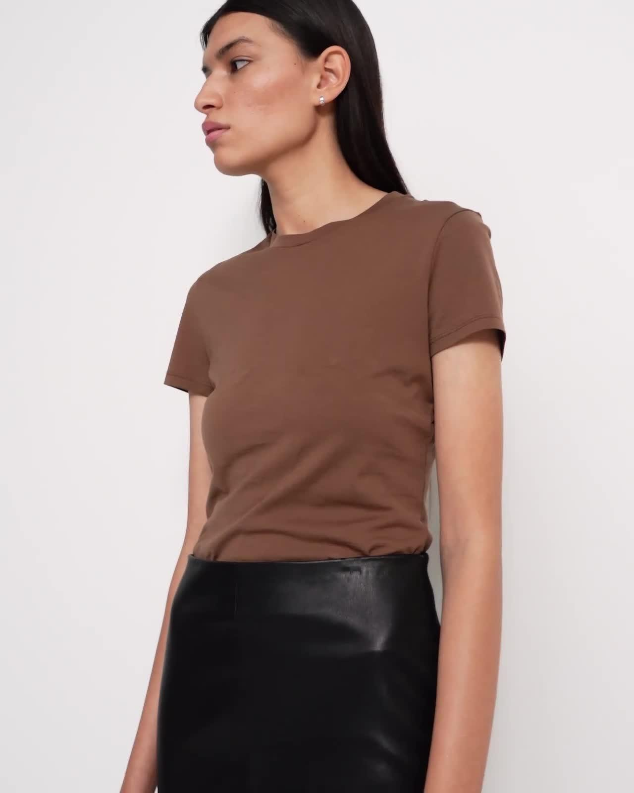 Pencil Skirt in Leather Combo 4