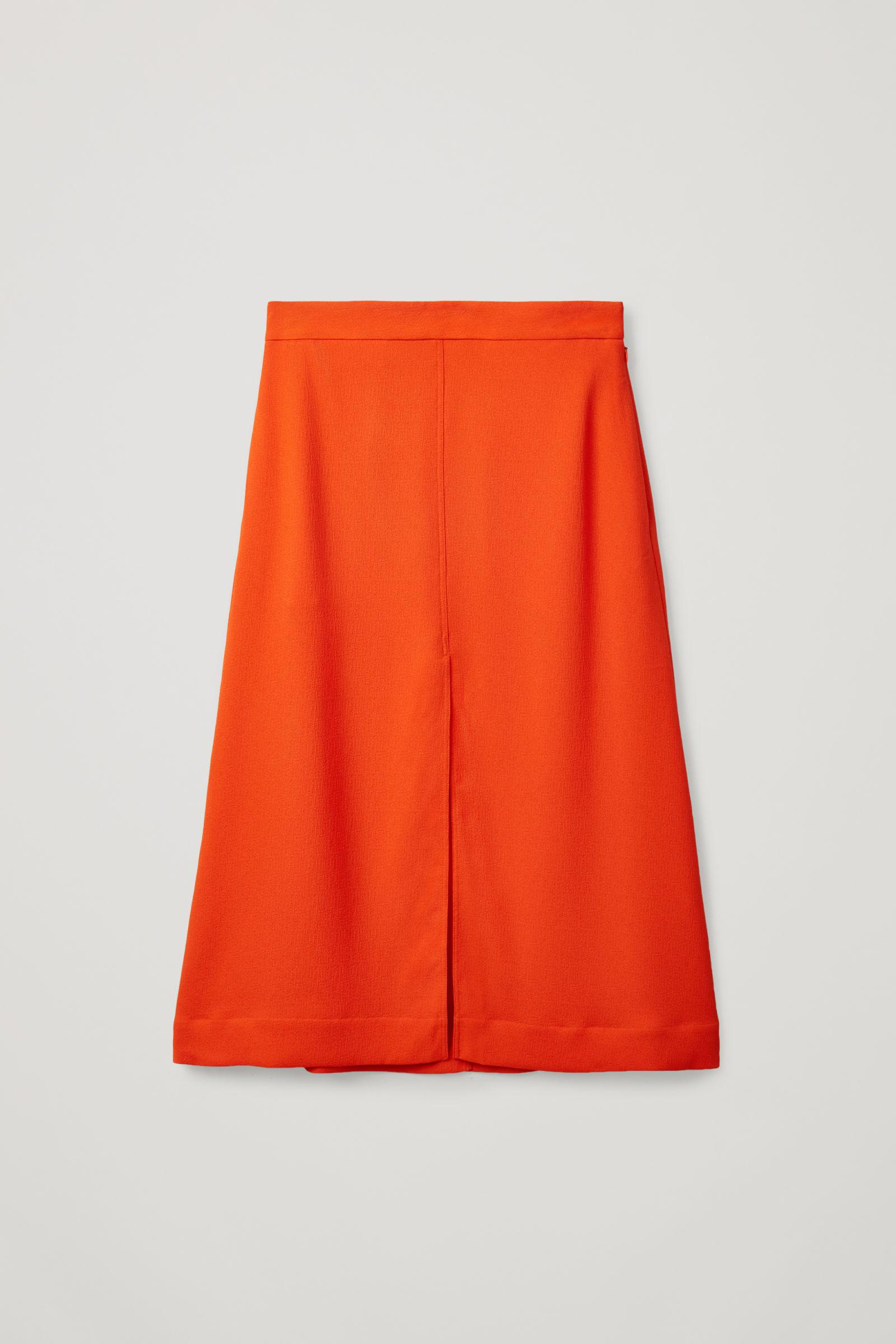 A-LINE SKIRT WITH SLITS