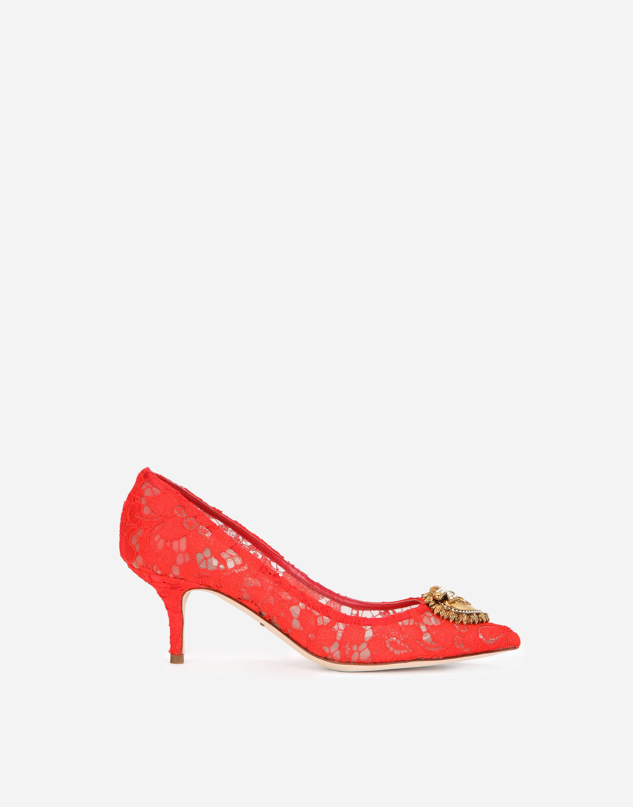Taormina lace pumps with Devotion heart