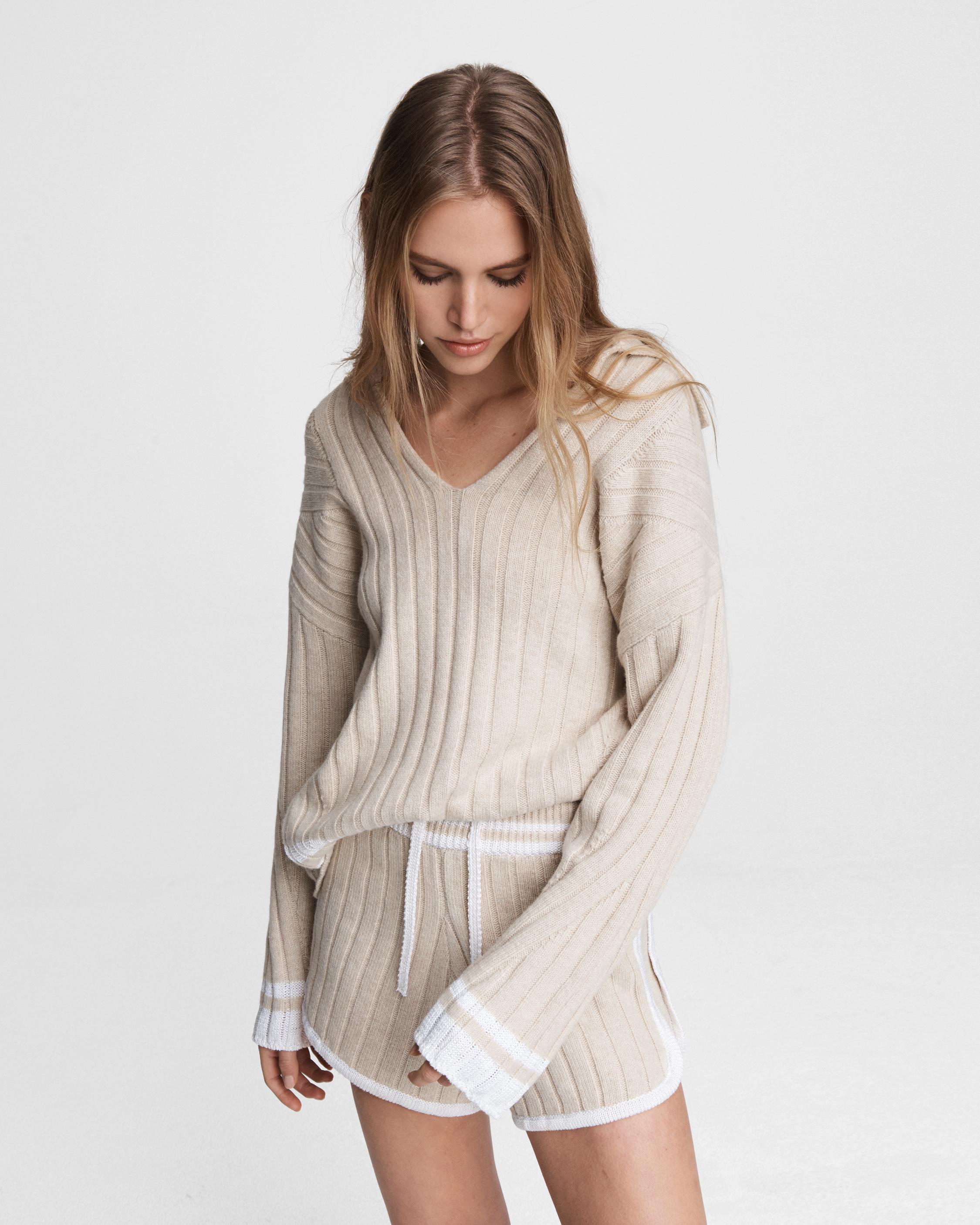 Serena wool blend polo tunic