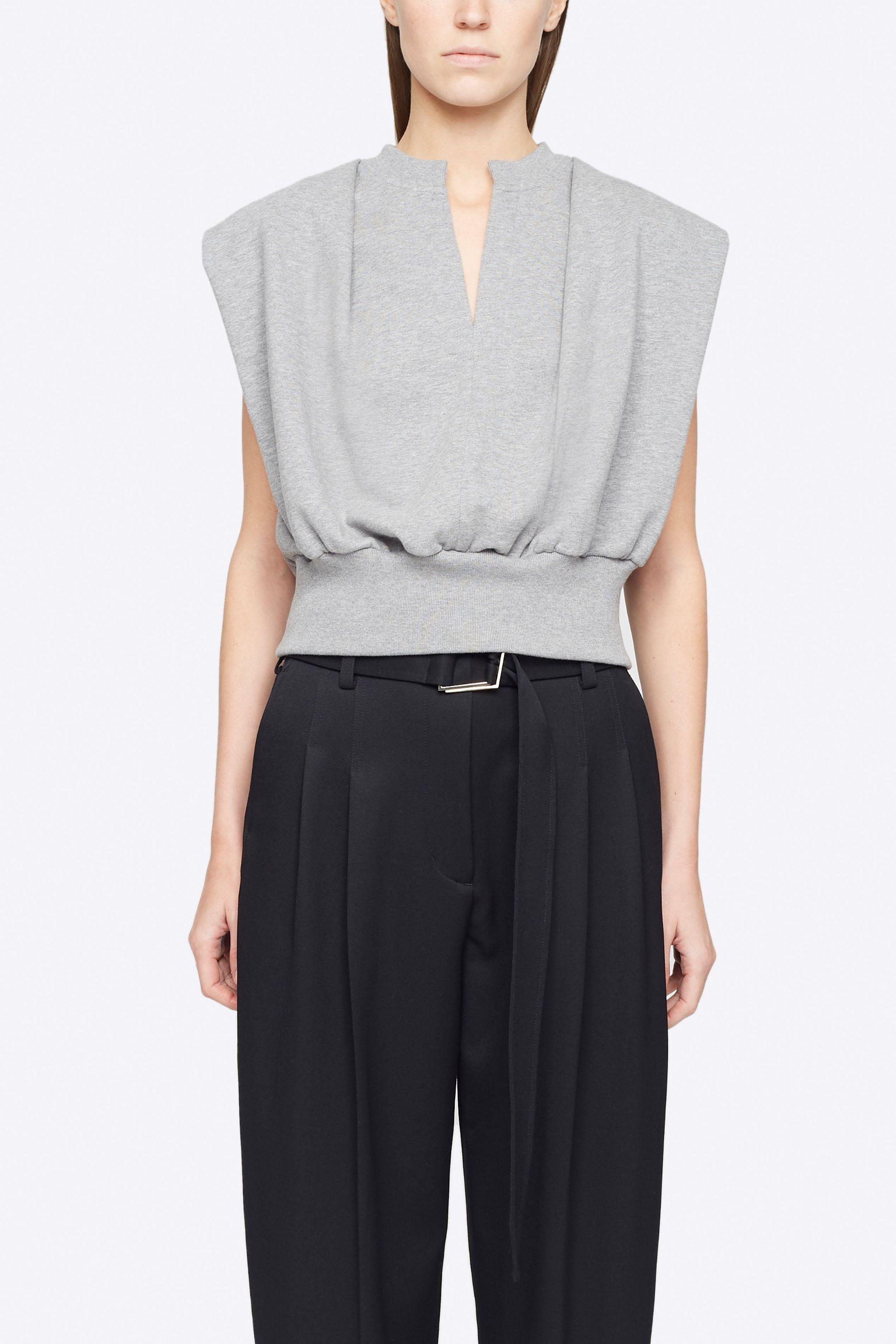 Sleeveless French Terry Top