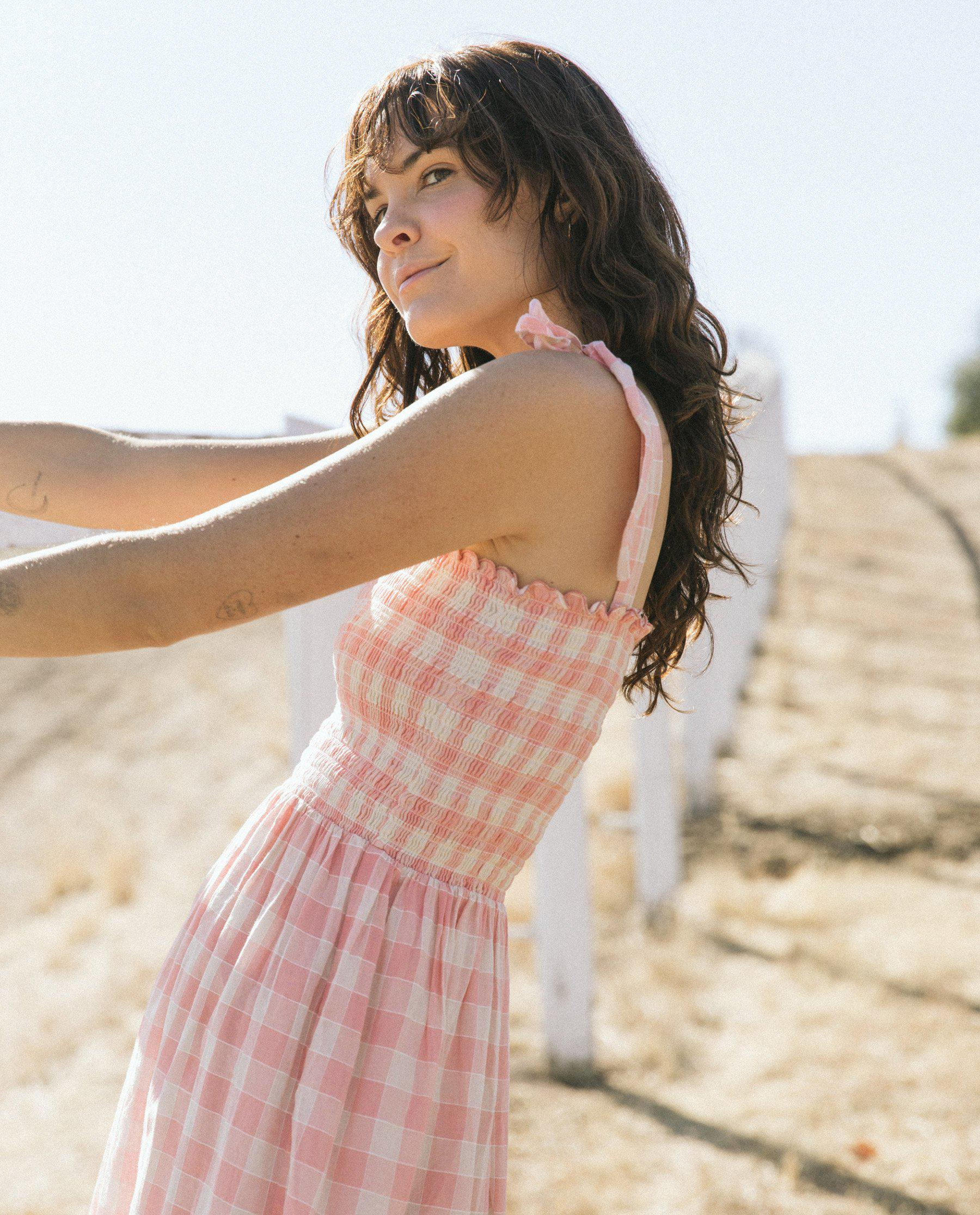 The Lagoon Dress. -- Pink with Cream Gingham 3