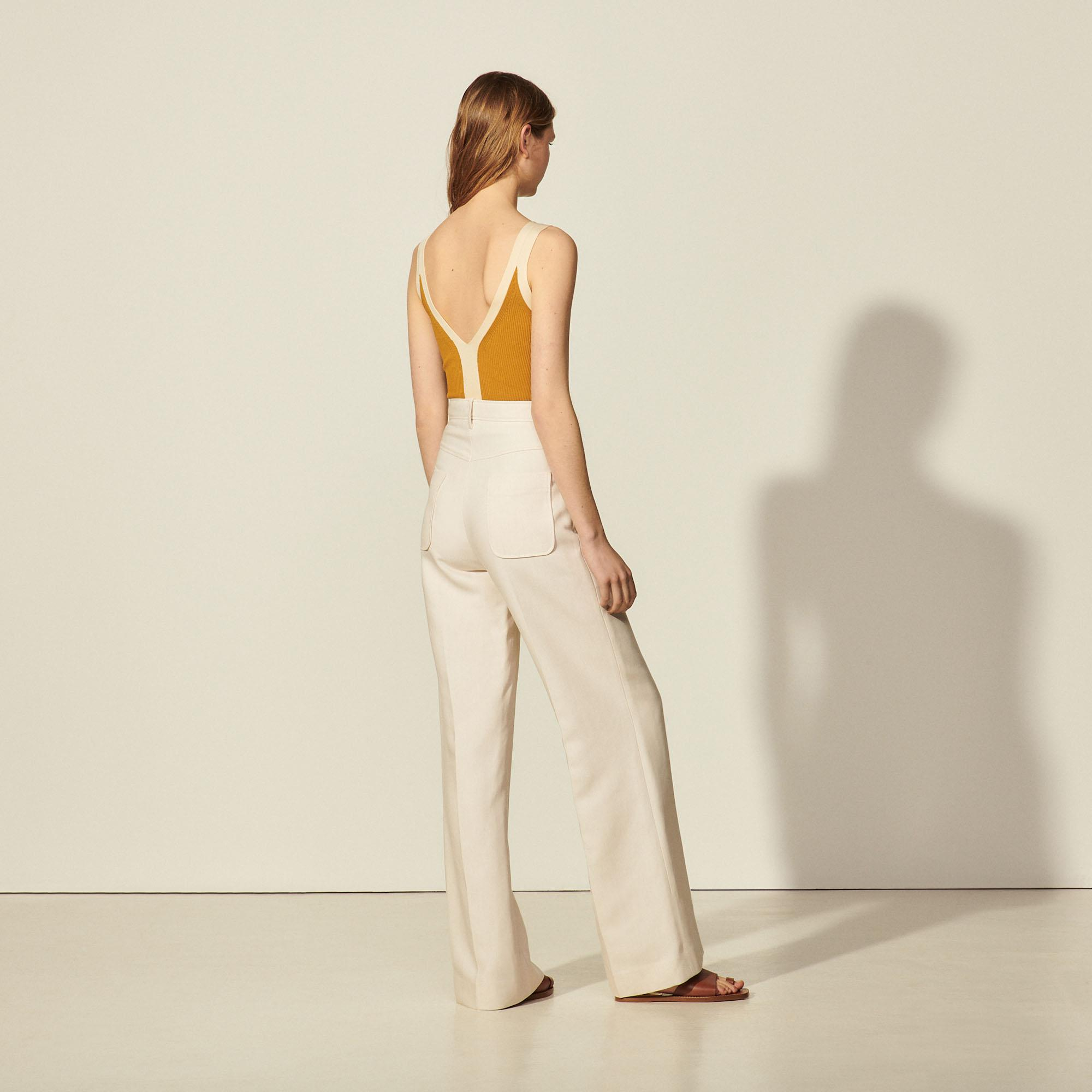 Pants with center front zip 1