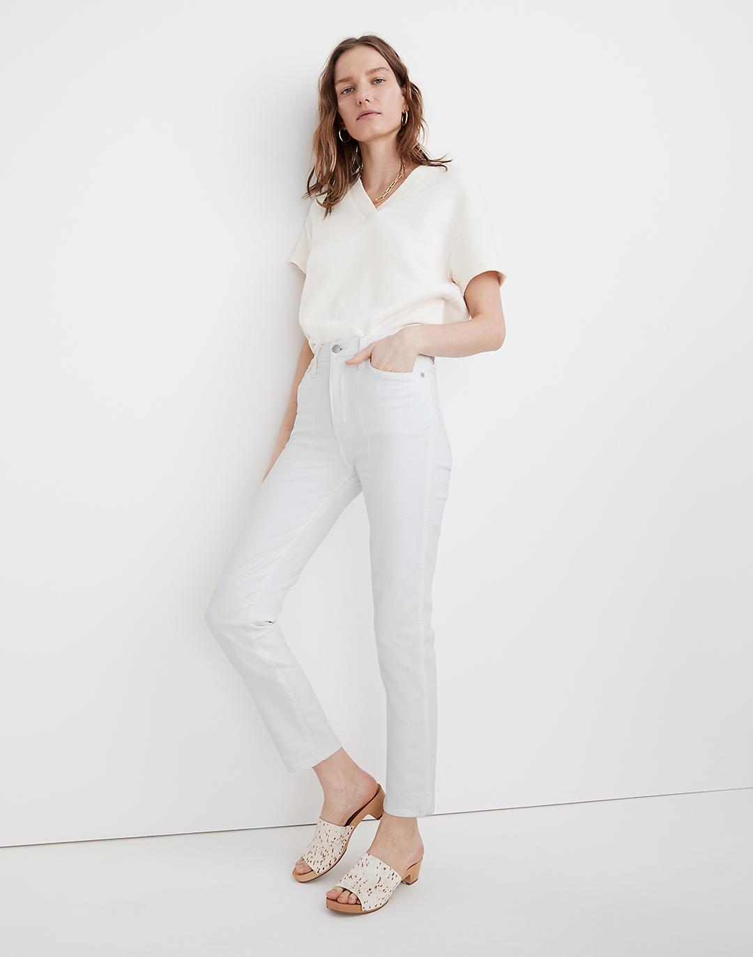 Stovepipe Jeans in Pure White