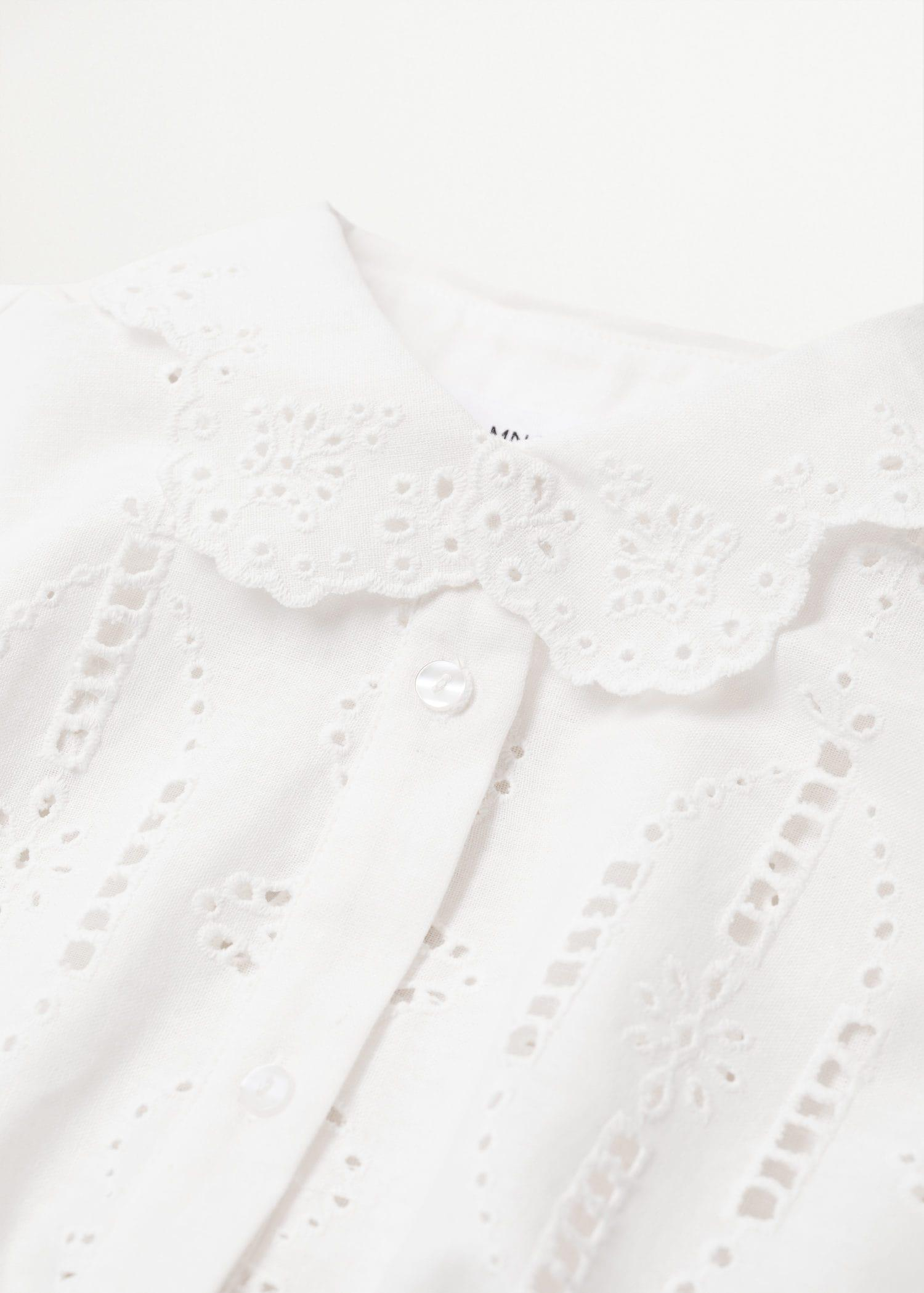 Swiss embroidery linen blouse 6