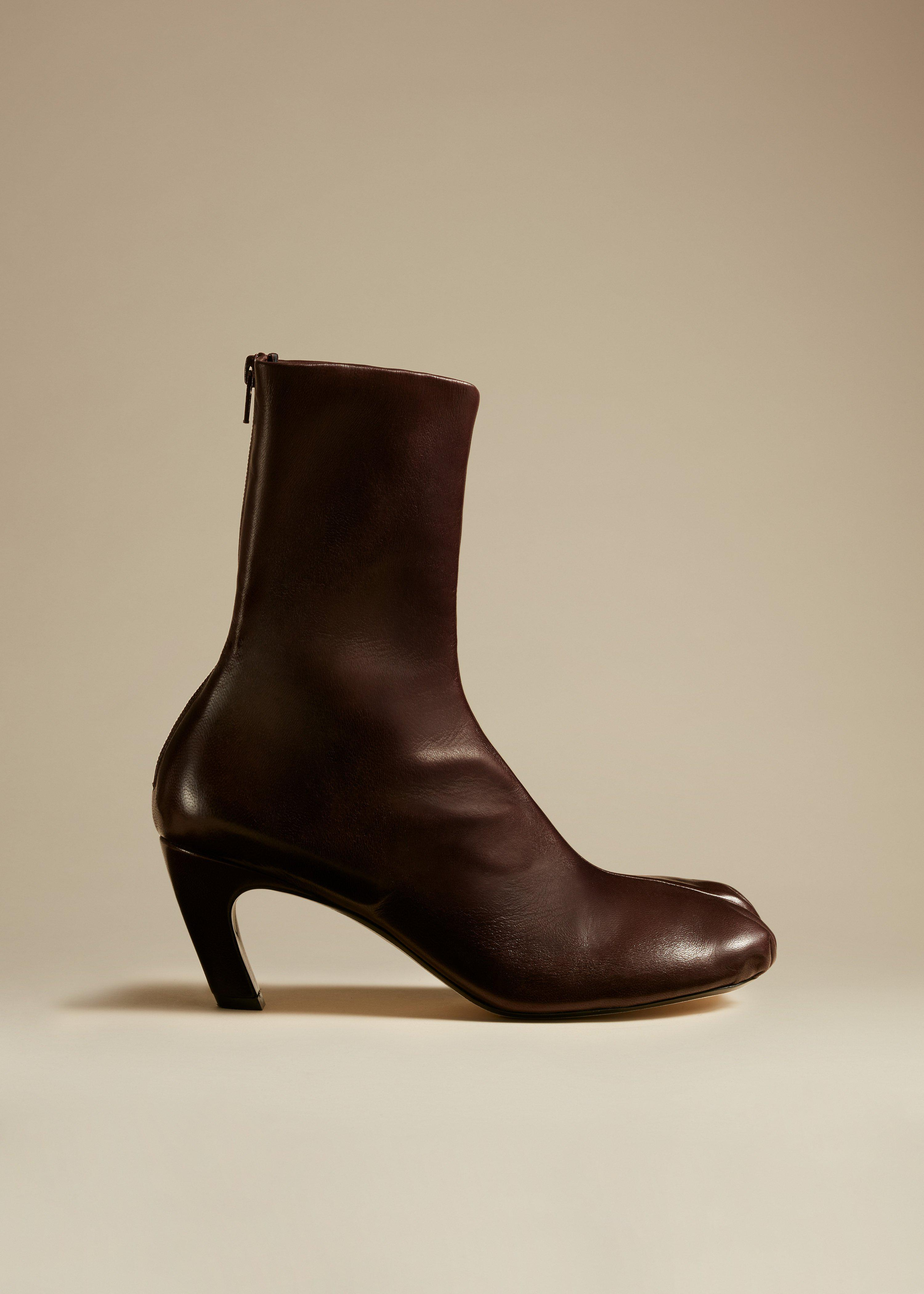 The Normandy Boot in Bordeaux Leather
