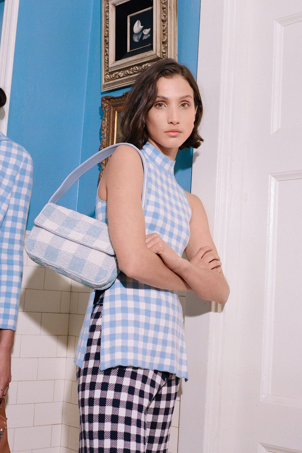 TOMMY BEADED BAG   ARCTIC BLUE WHITE 8