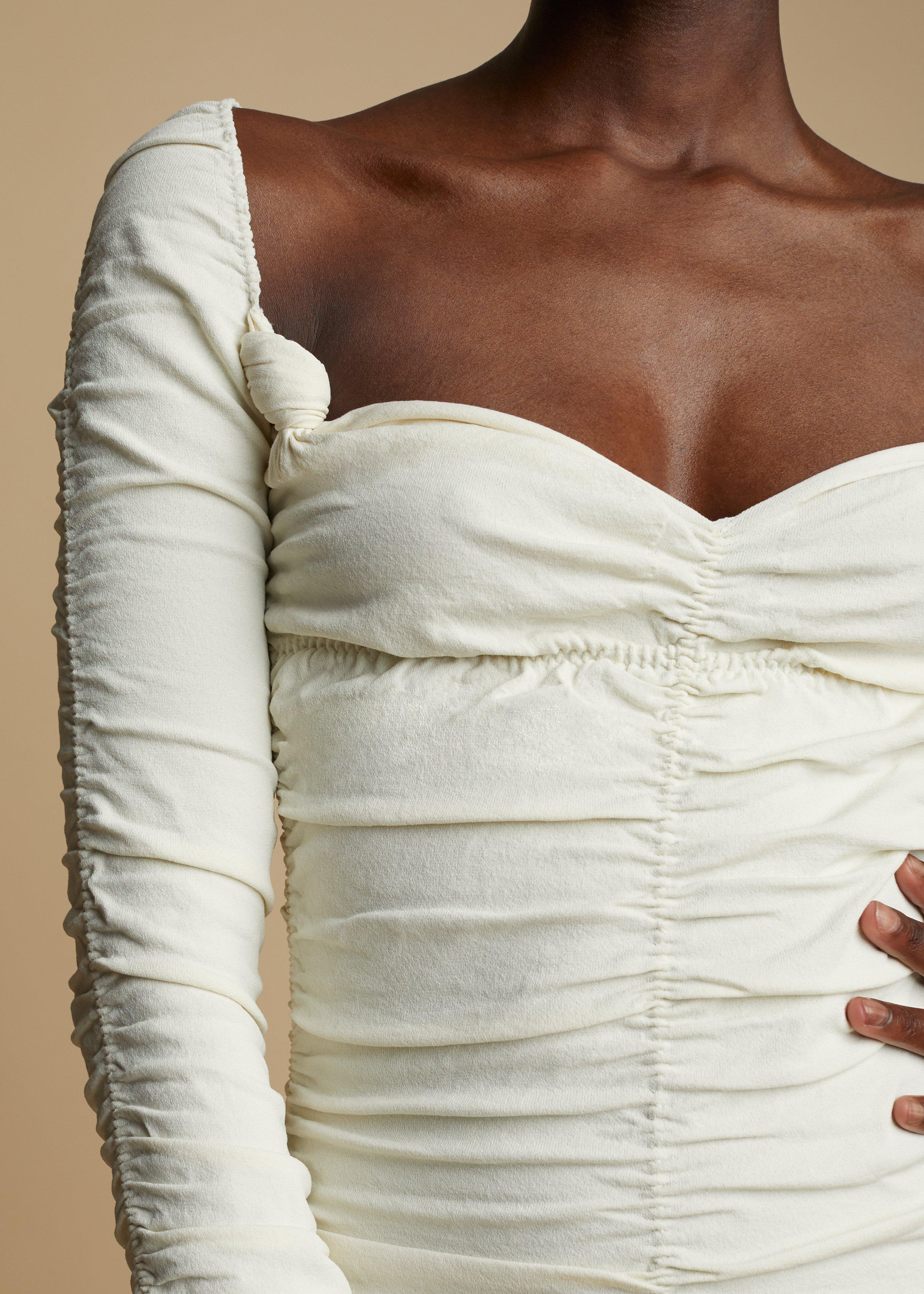 The Charmaine Dress in Ivory 3