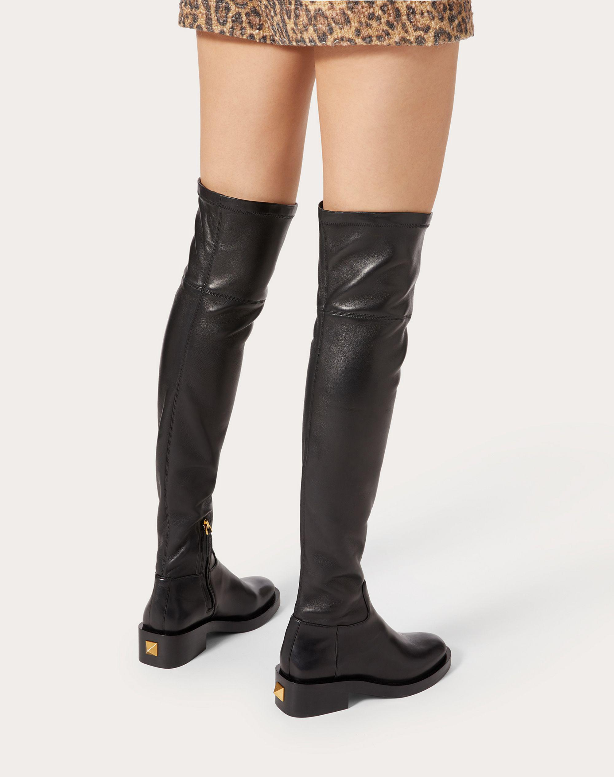 ROMAN STUD STRETCH NAPPA OVER-THE-KNEE BOOT 30MM 5