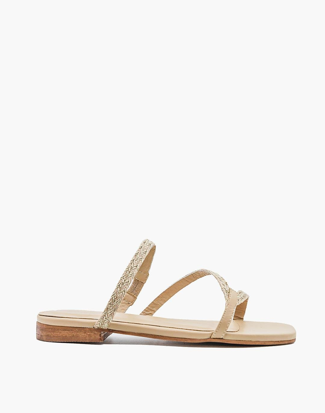 KAANAS Nevis Barely-There Metallic Yute Sandals