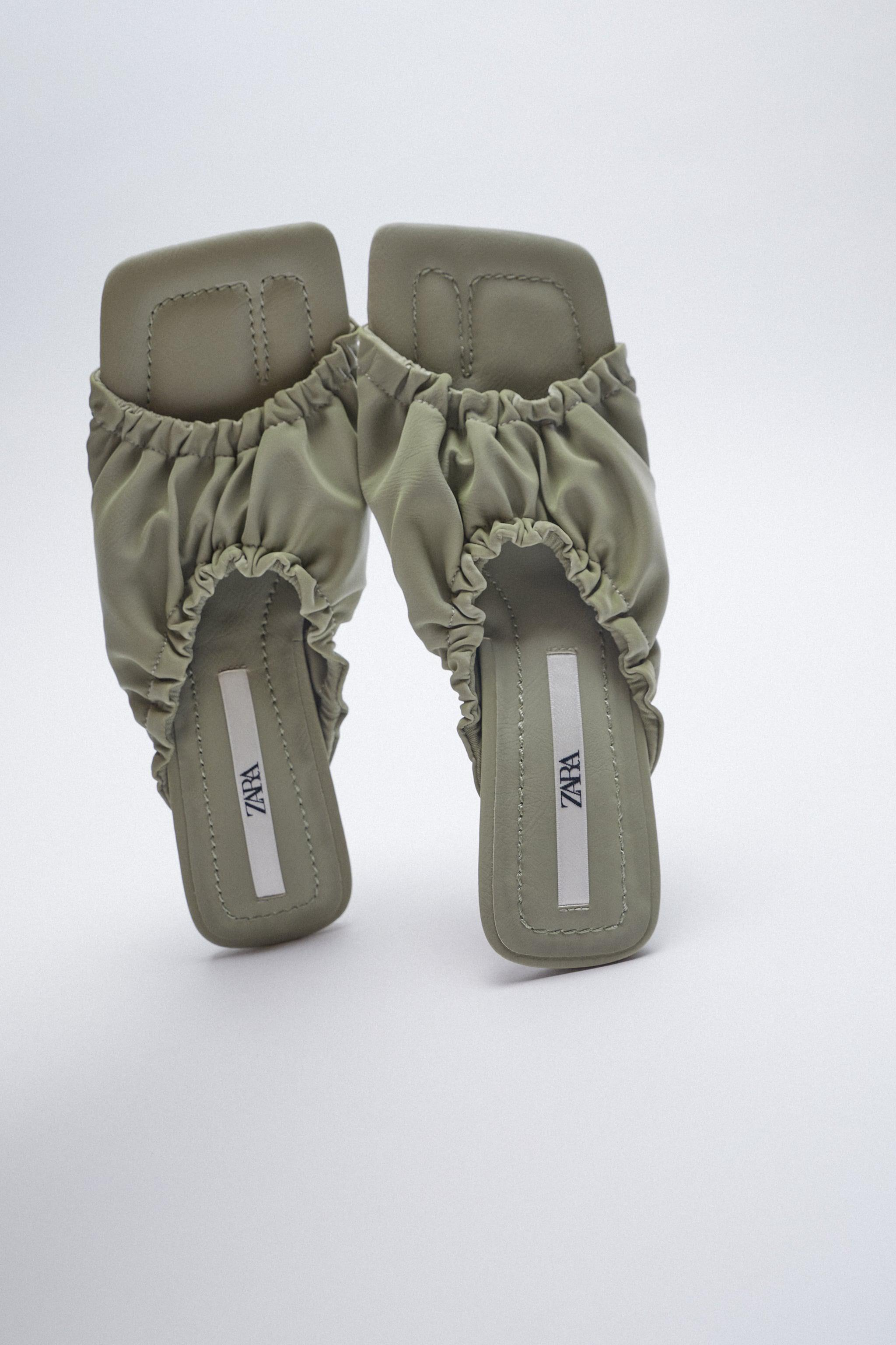 RUCHED HEELED SANDALS 4