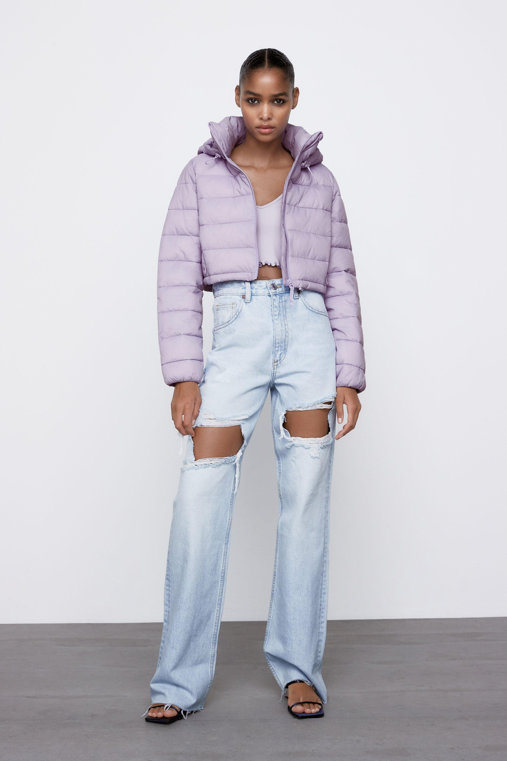 WATER REPELLENT CROPPED PUFFER JACKET