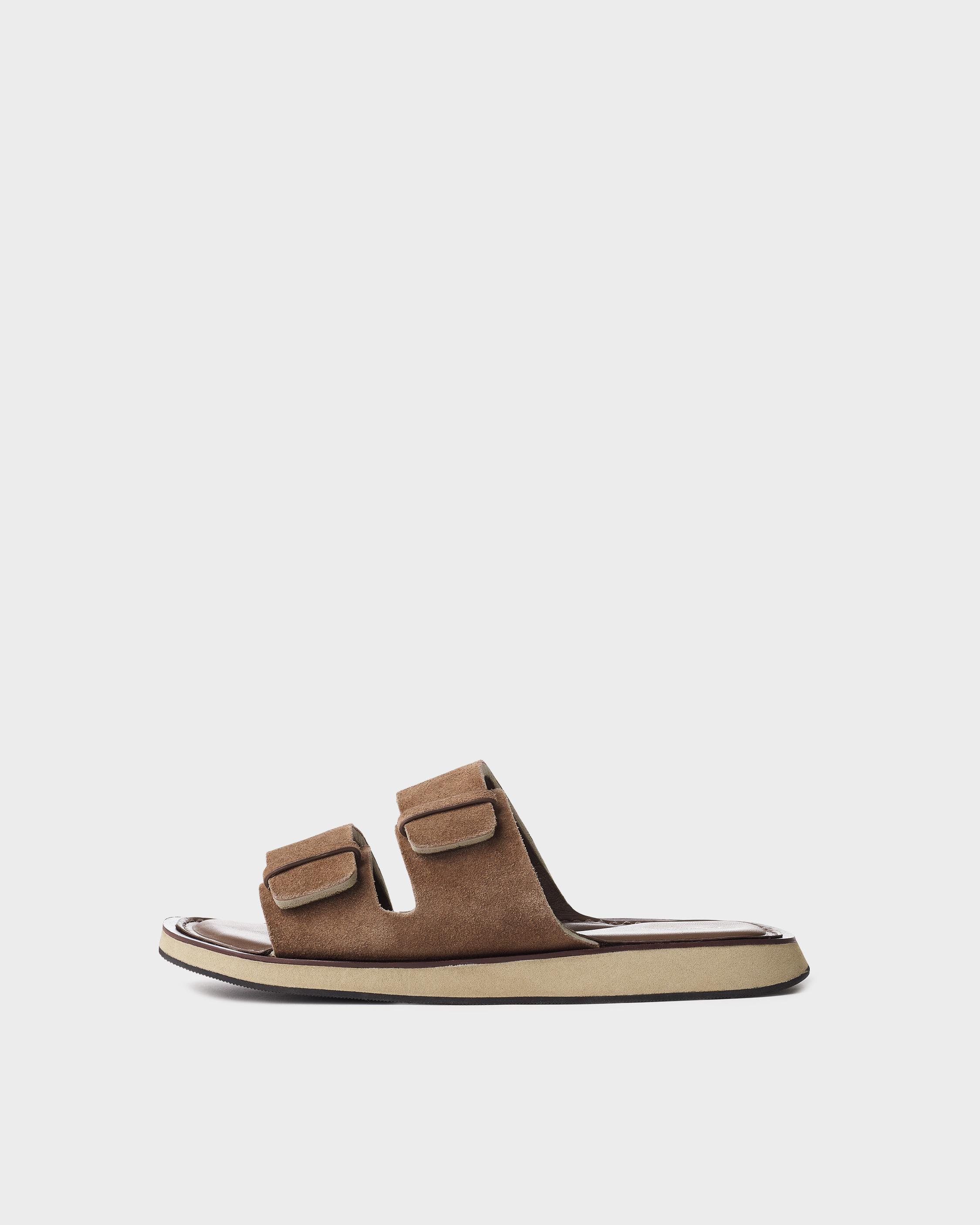 Parker slide - suede and sheep nappa