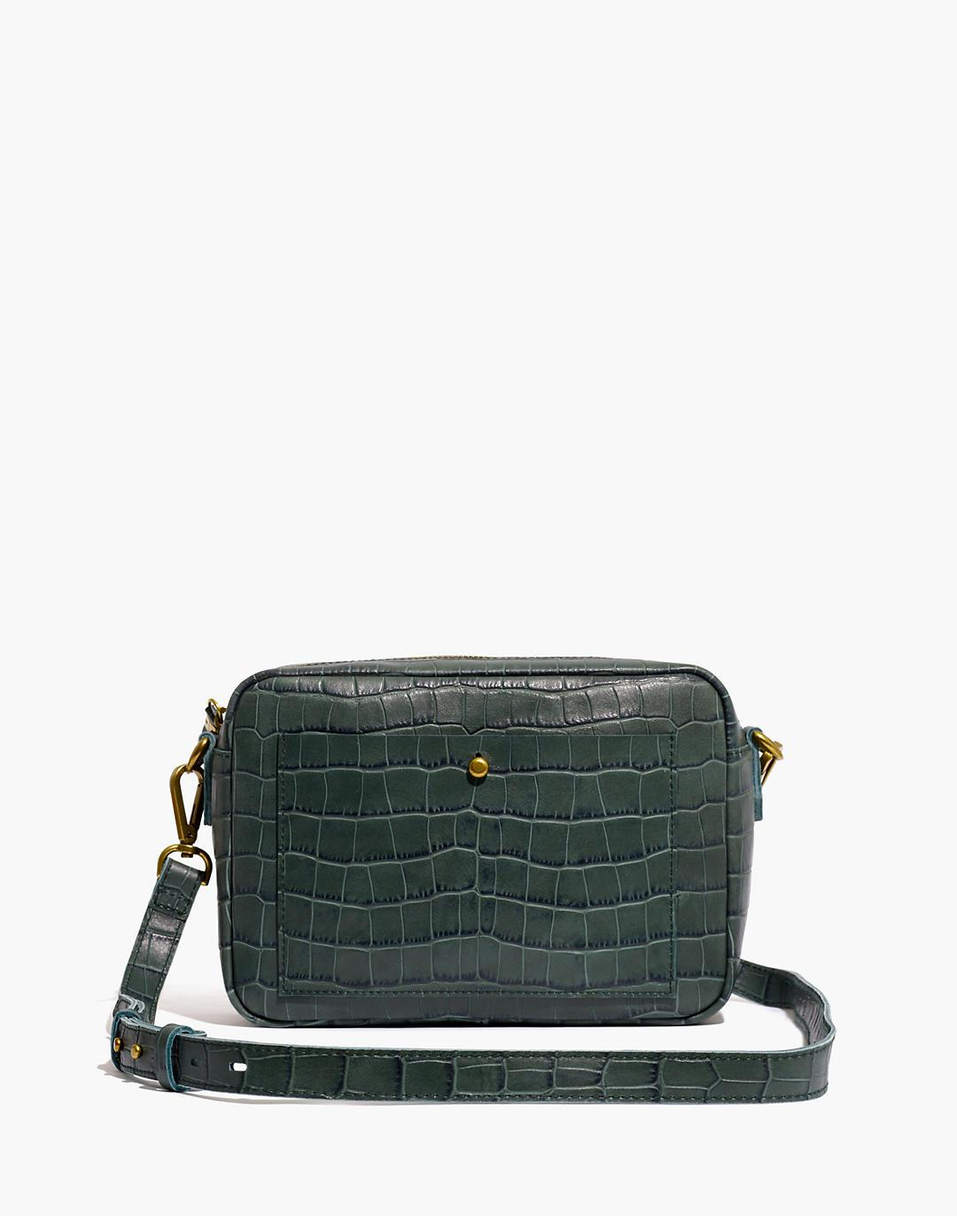 The Large Transport Camera Bag: Croc Embossed Leather Edition