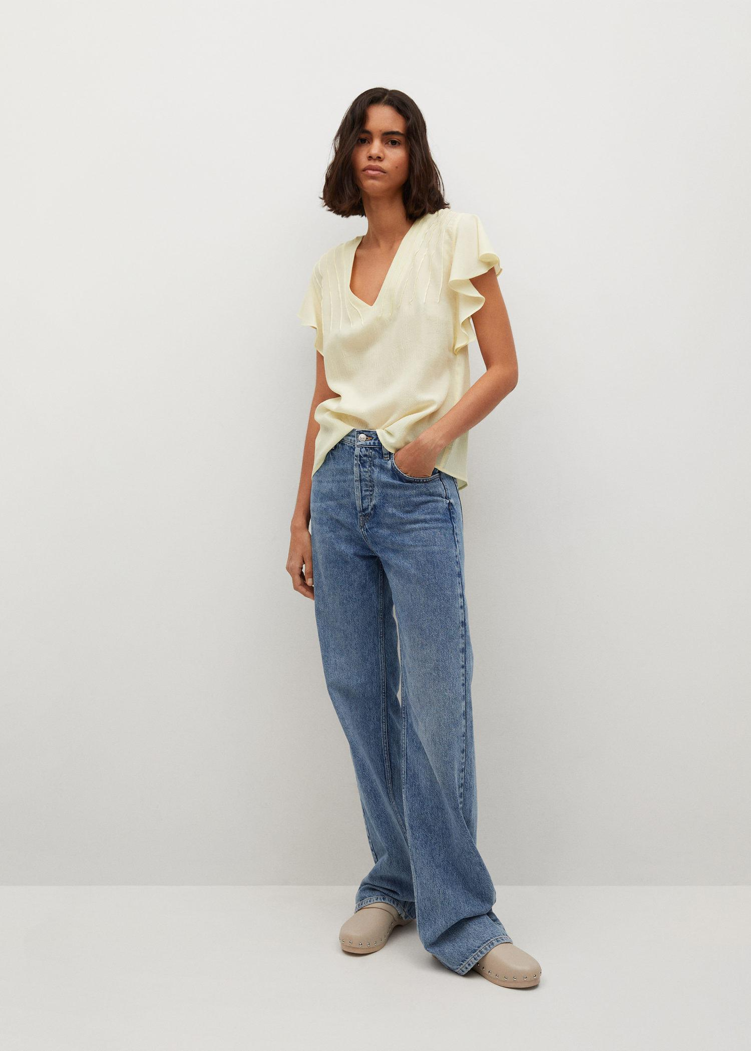 Bow textured blouse 1