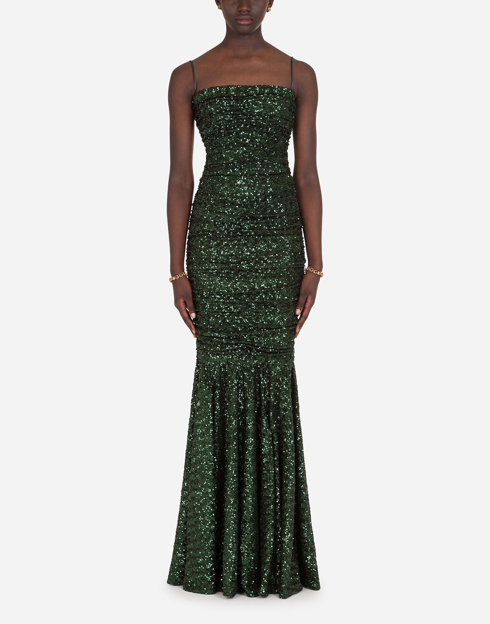 Long sequined dress 0