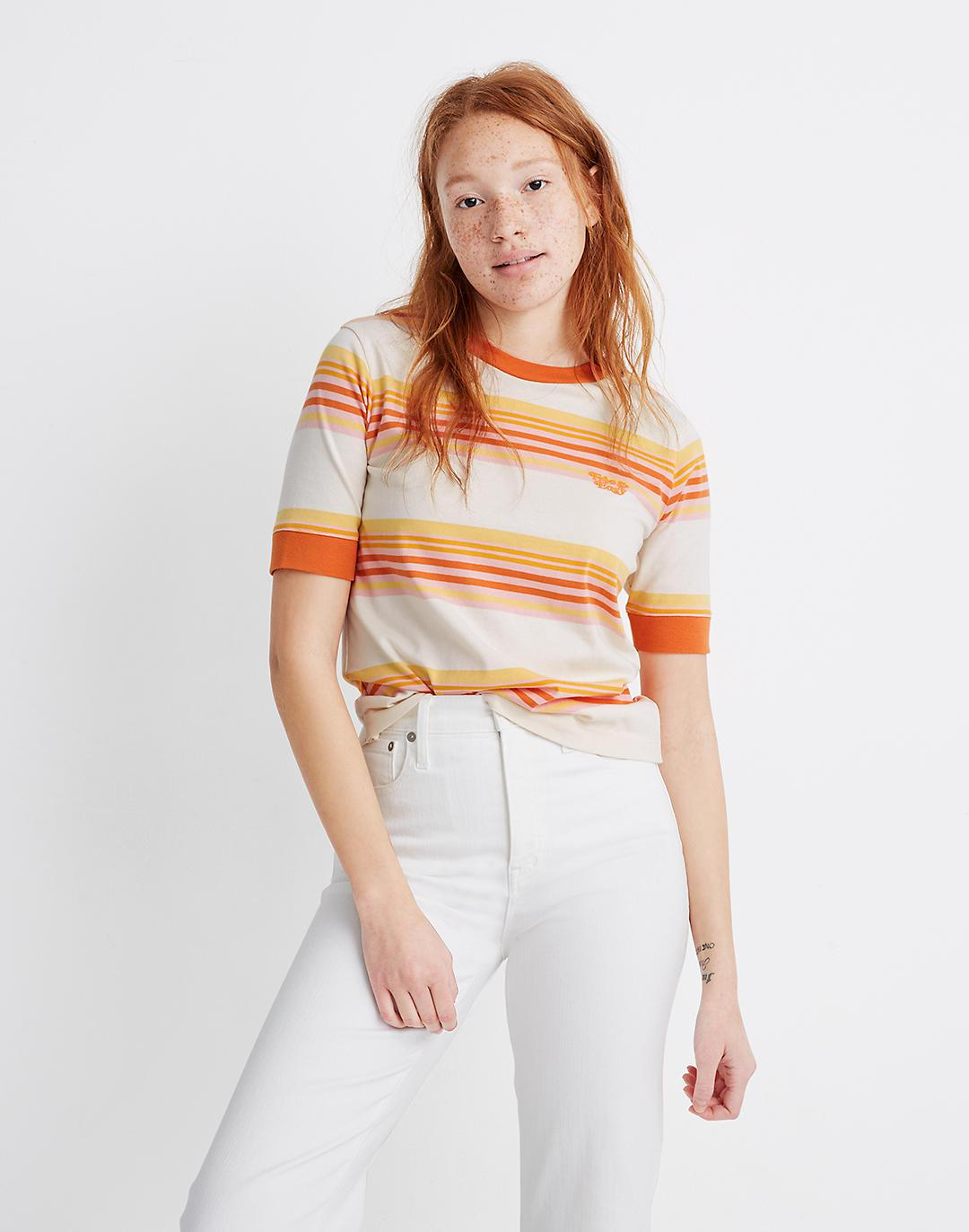 Madewell x Free & Easy® Embroidered Relaxed Tee