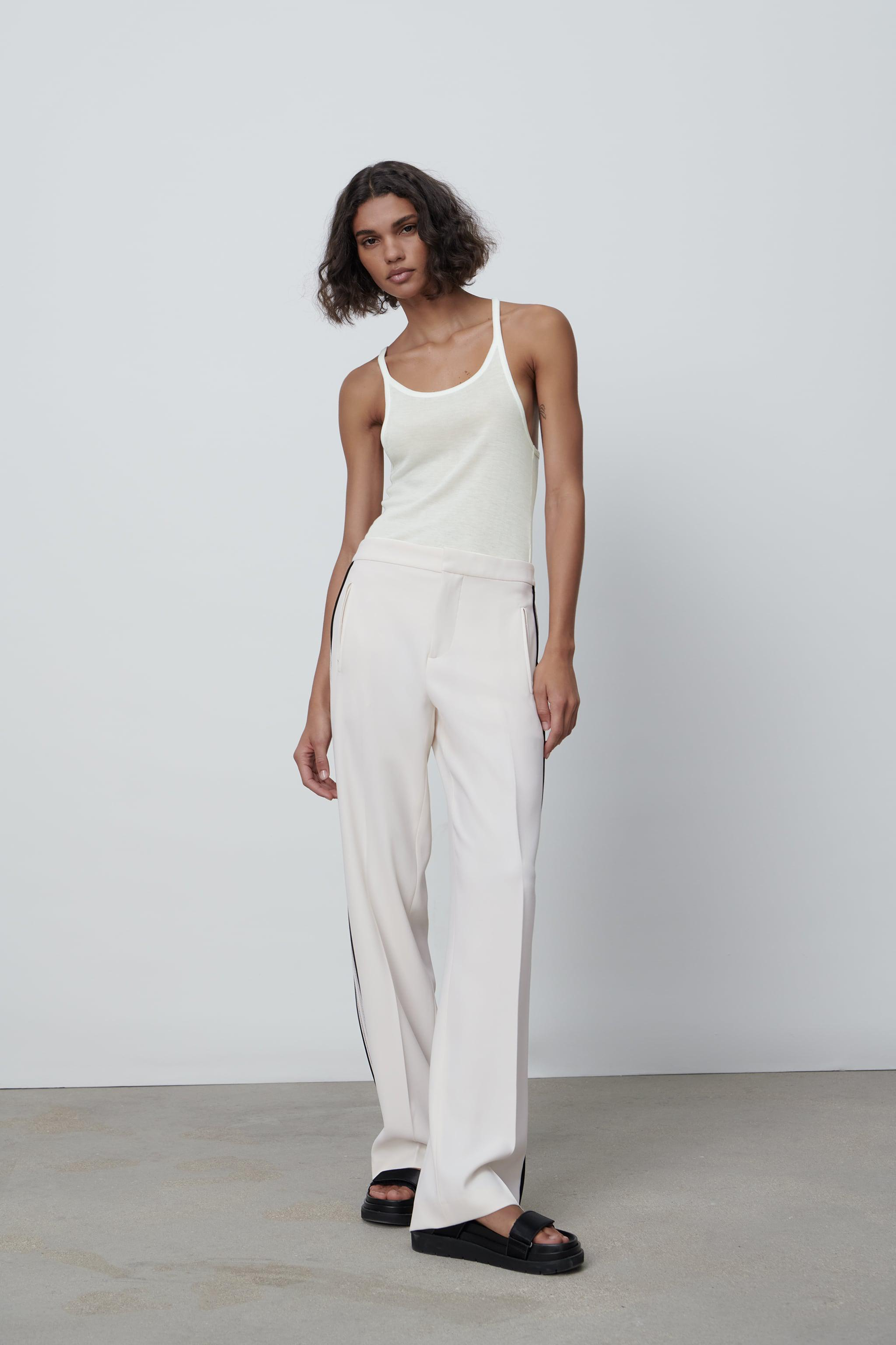 FLOWY PANTS WITH SIDE BANDS