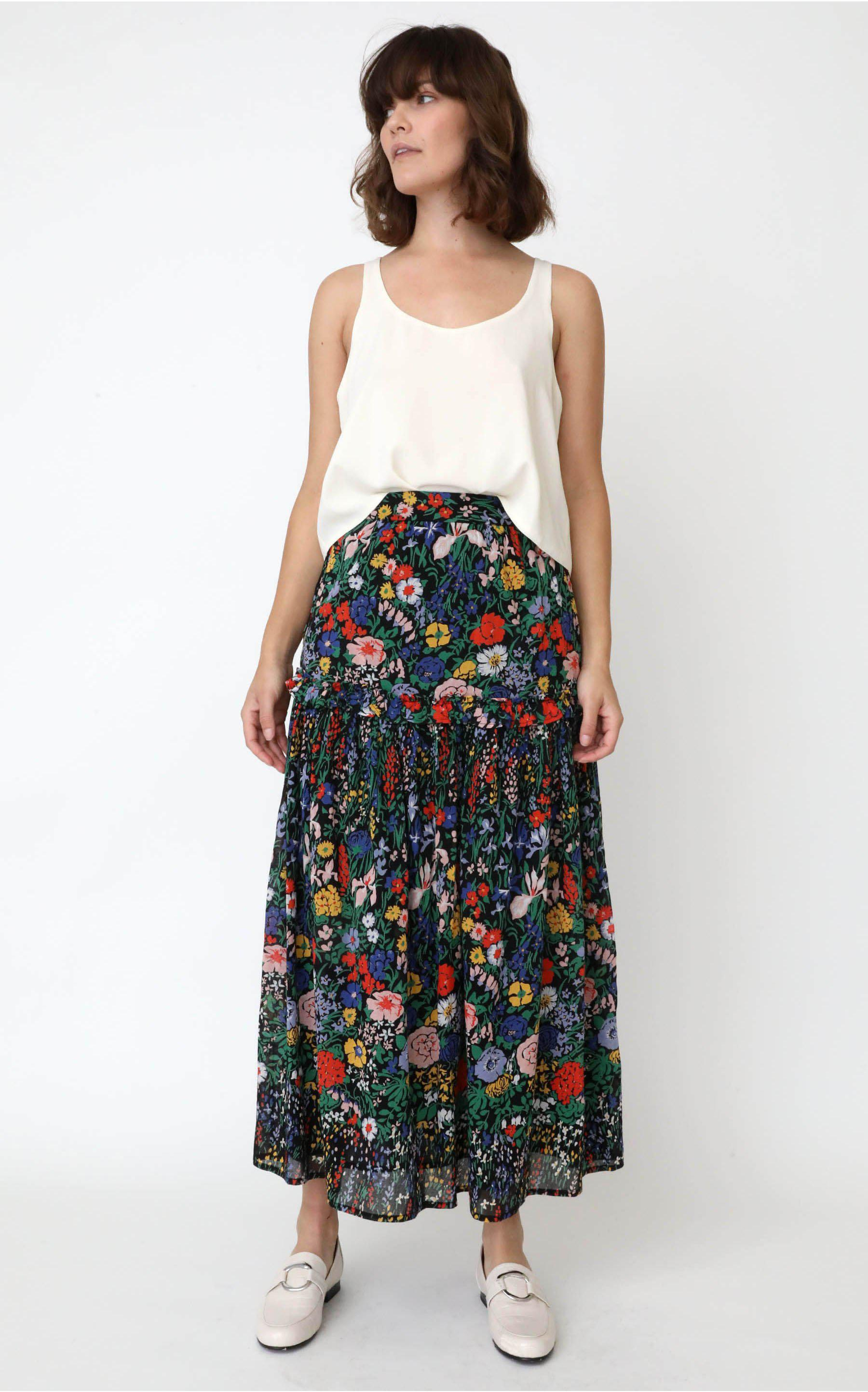 Piper Skirt Dawn Chorus Black