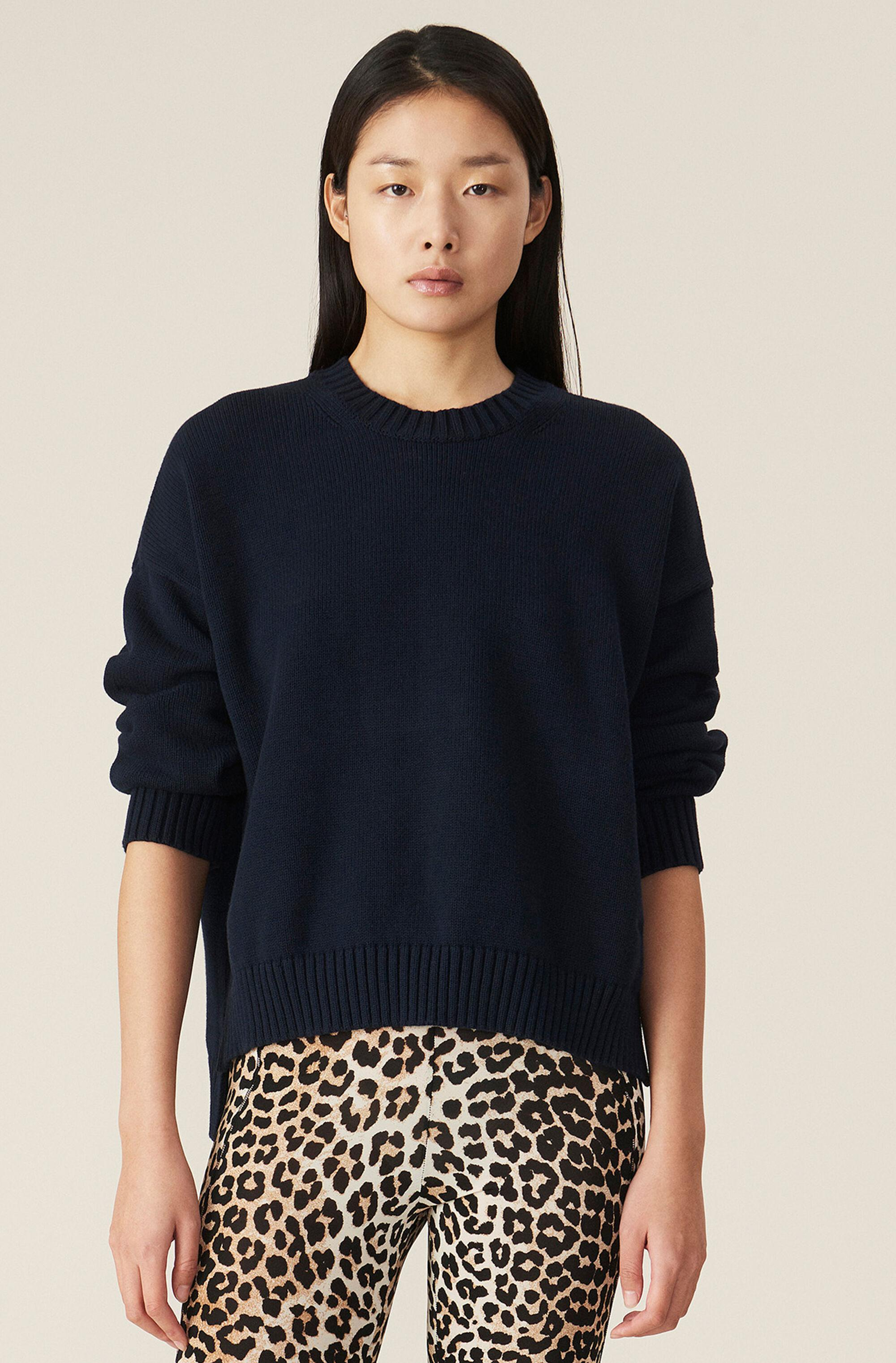 Cotton Knit Oversized Pullover