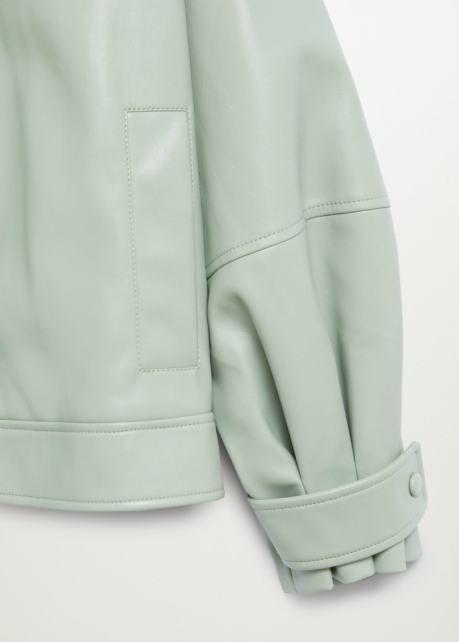 Puffed leather-effect jacket 8