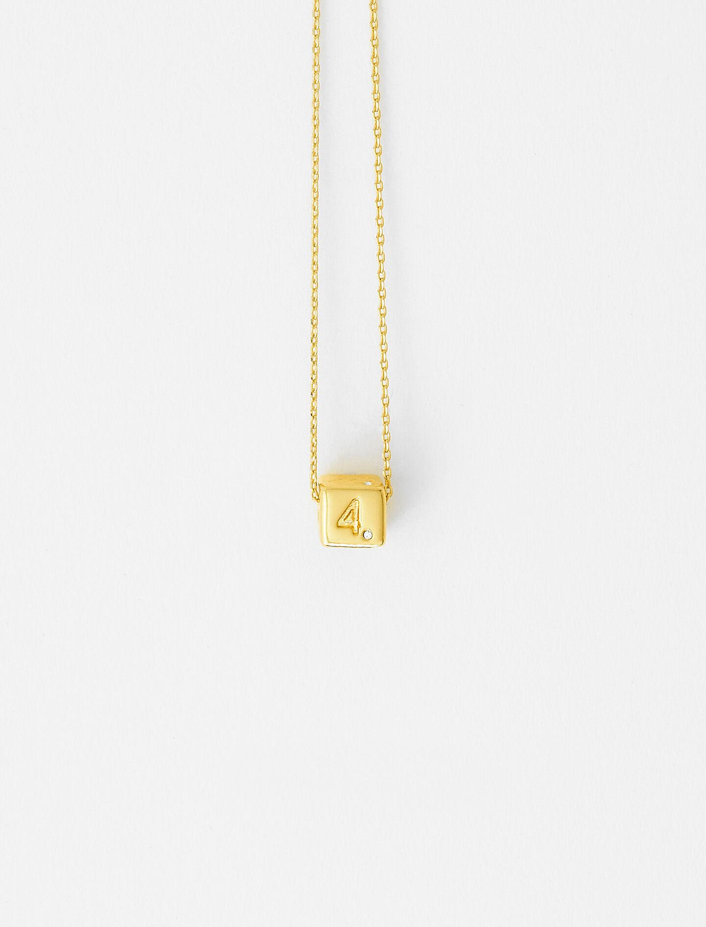 NUMBER 4 DICE NECKLACE