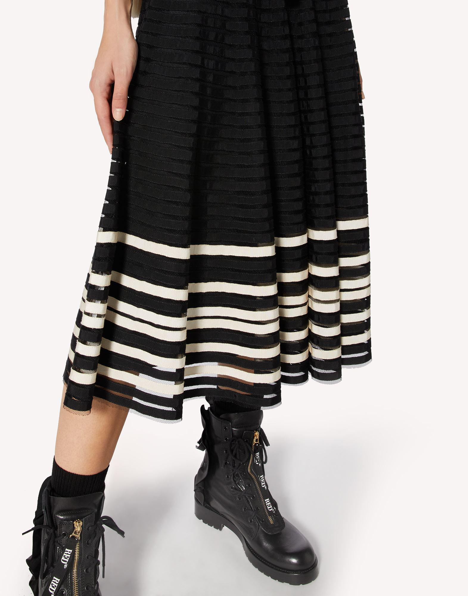 POINT D'ESPRIT TULLE SKIRT WITH GROSGRAIN RIBBONS 3
